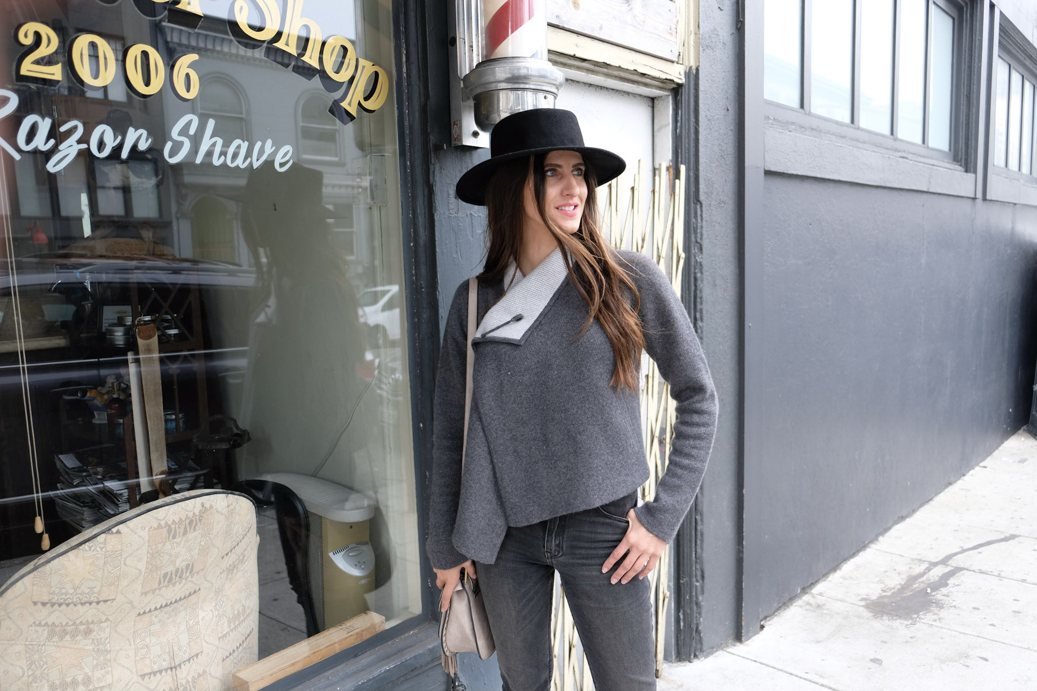 I'm wearing the  St. Lucia sweater  by Margaret O'Leary and Revice Denim high waisted jeans