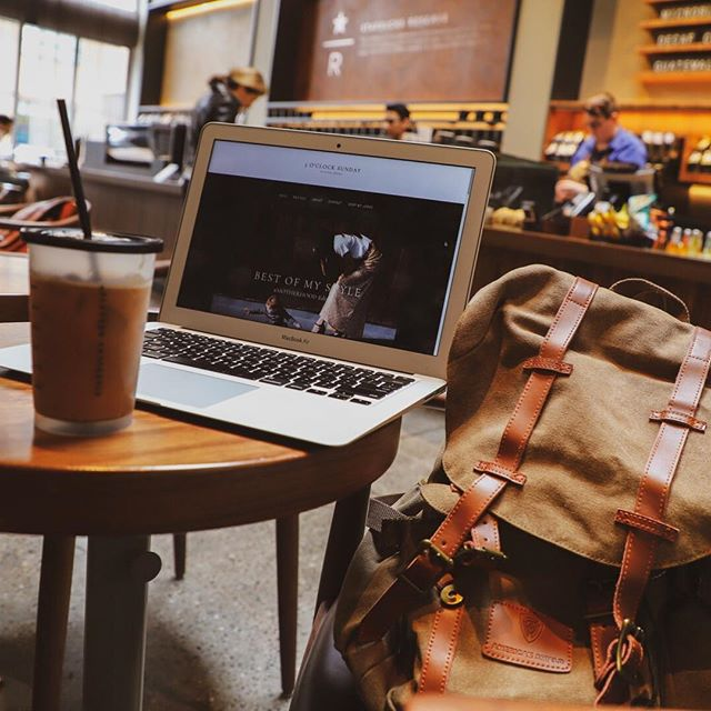 Coffee shops and blog updates. #workinprogress #momboss // Also, I'm seriously loving my new backpack sent over from @ameshield. Use my CODE: OCLOCKSUNDAY for 20% OFF. // • • • #ameshield #americanshield #backpack #fashionbackpack #lifestyle #travel #travelbackpack