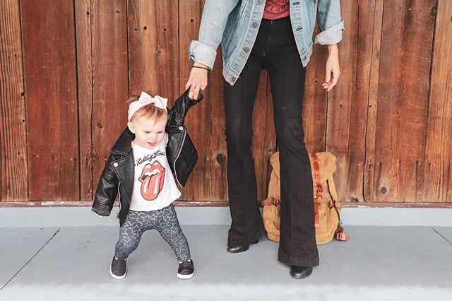 This little rockstar is almost 1 year old. #thecountdownbegins #oneyearold #kidsfashion #mommyandme