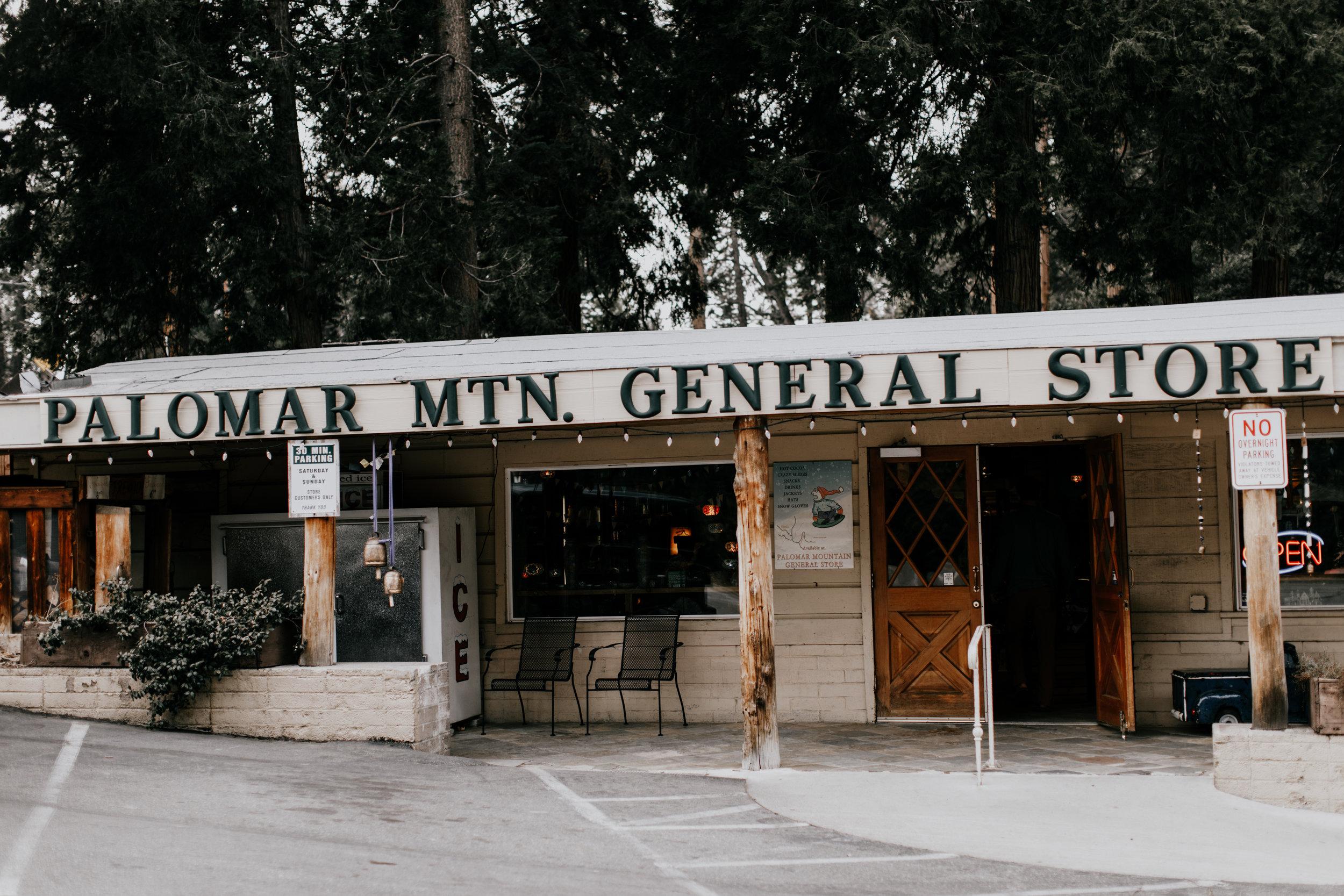 Palomar mountain store