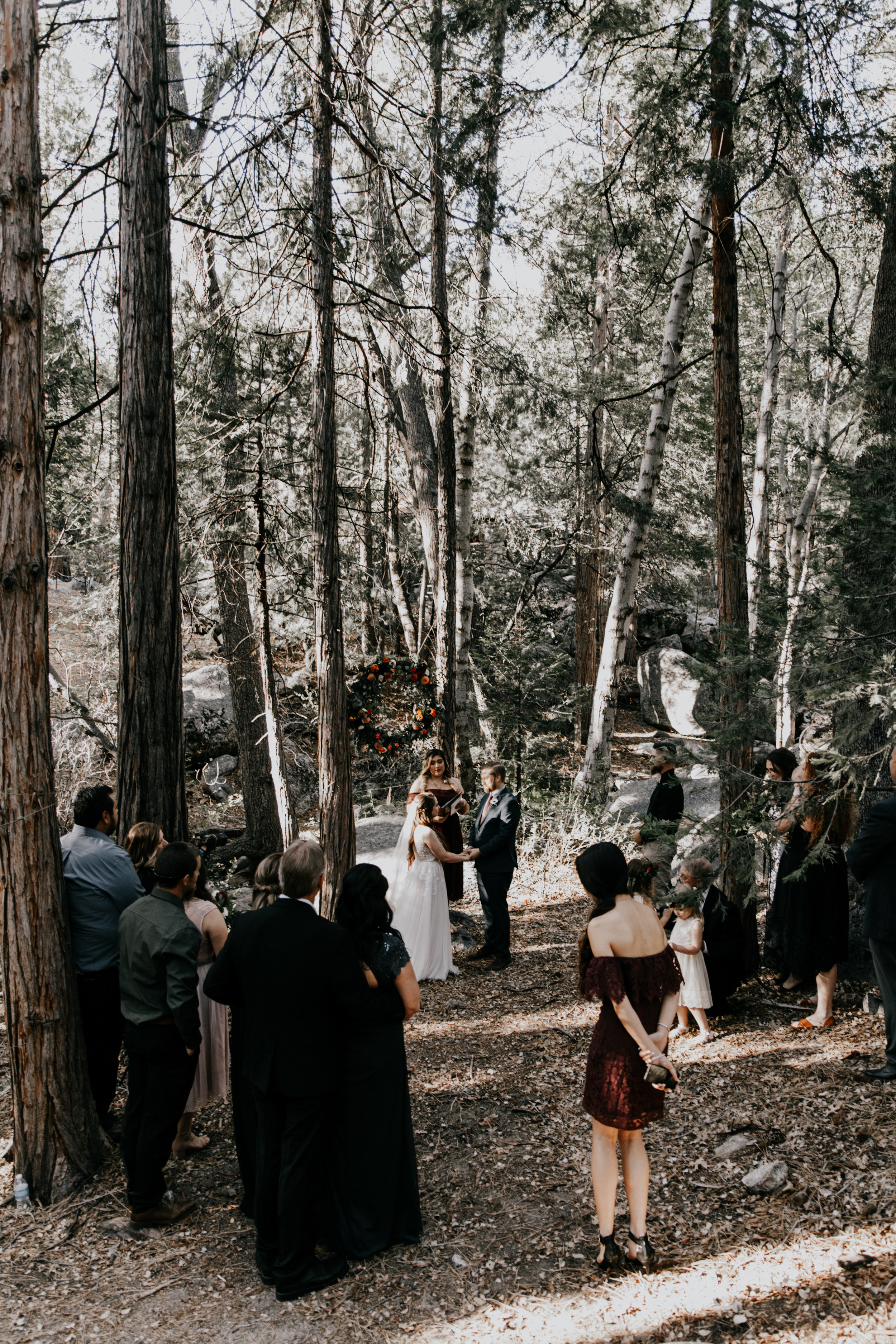 wedding vows under the trees |Astray Photography
