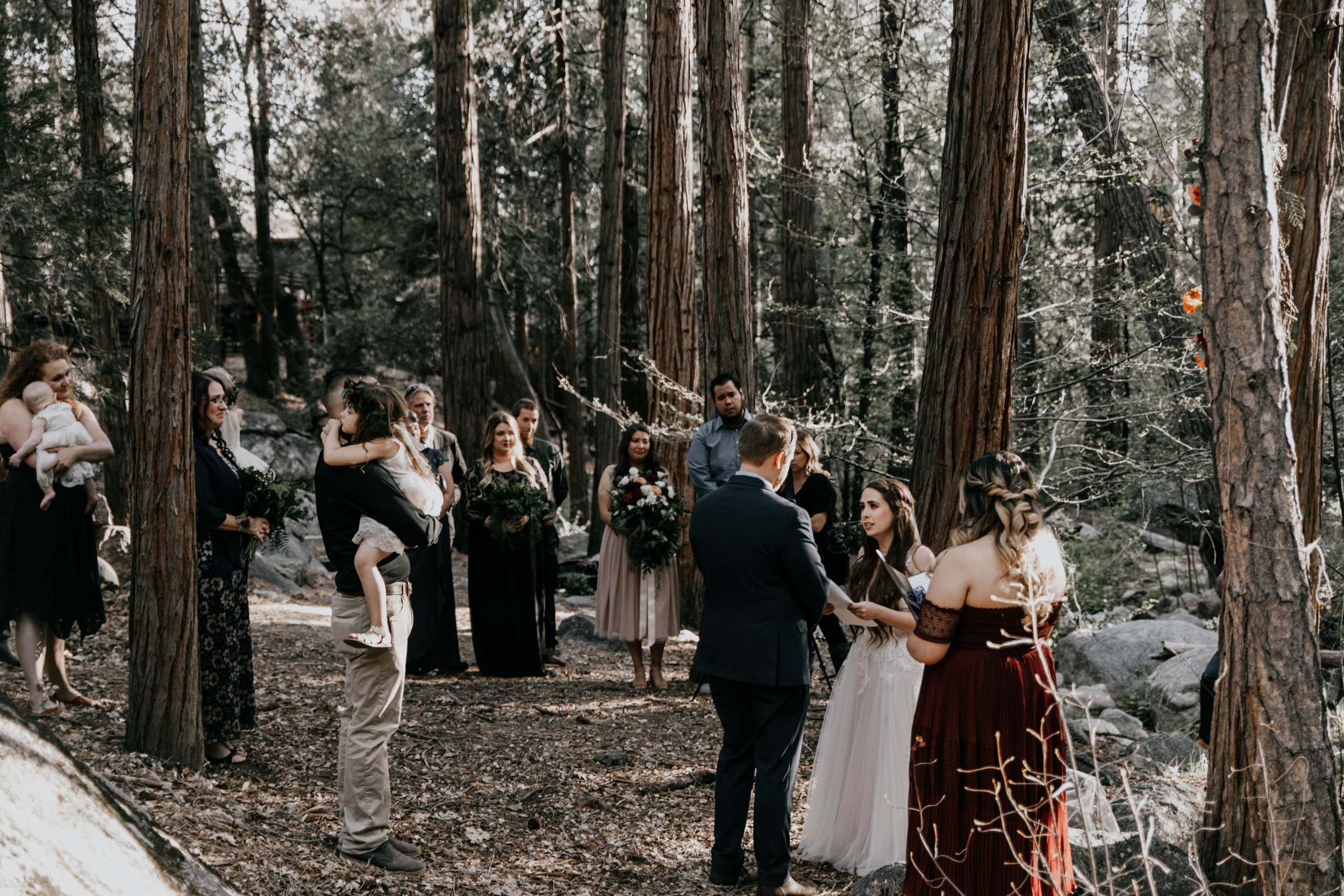 wedding vows in the woods