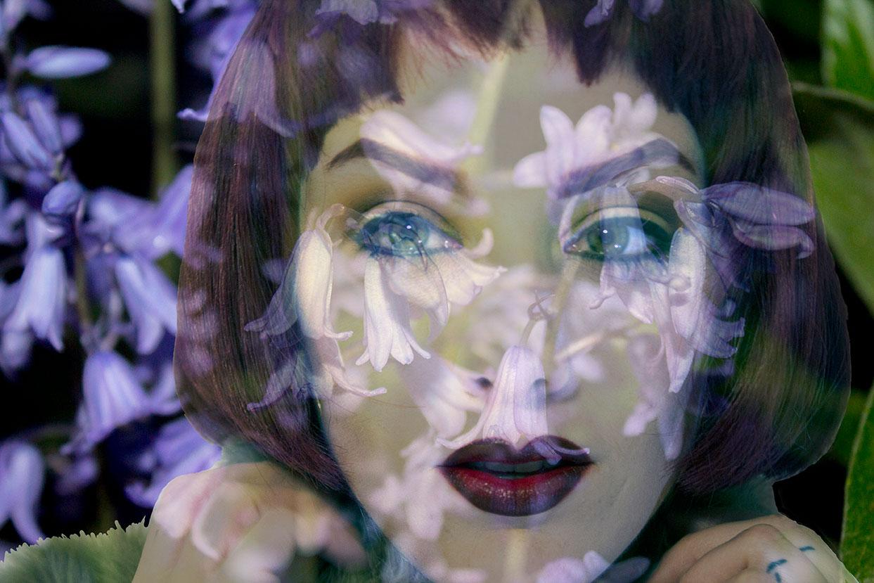 "Floral Femme Photograph and Digital Manipulation 11 1/2"" x 17 1/4"" 2017"