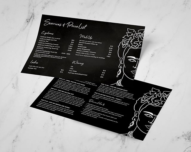 Flyer designs for Brow Lover salon  #flyer #branding #fridakahlo #blackandwhite #design #business card #graphicdesign #business #graphic #logo #illustration #print #brow #browtattoo #salon #beauty