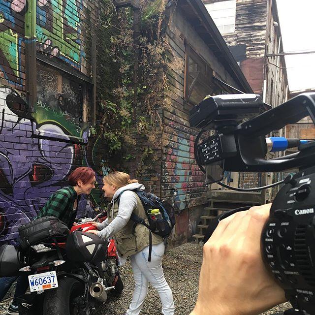 Intense staring contest on set!  @leslieappletonlee • • • • #demoreel #actorslife #actors #actorsreel #filmmaking #filmmaker #youngcastle #cinematography #cinematographer #director #c100mkii  #c100 #loveislove #loveit #funonset