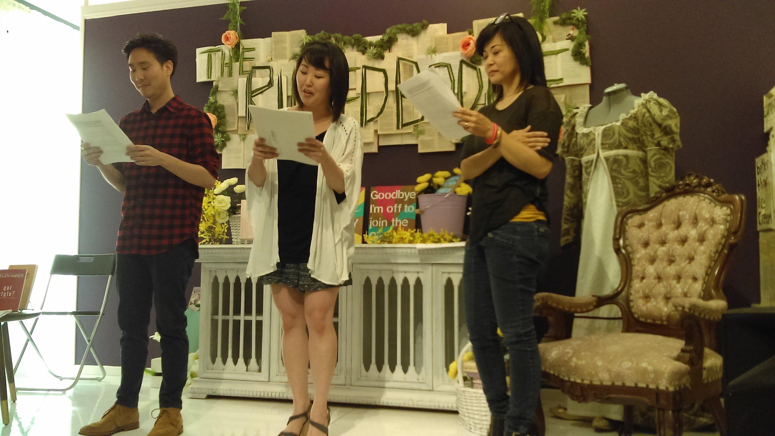Will Choi (Asian AF, Drunk Monk Podcast, Kdrama Podcast) ; Julia Cho (Asian AF, Lizzie Bennet Diaries), Keiko Agena (Asian AF, Gilmore Girls)