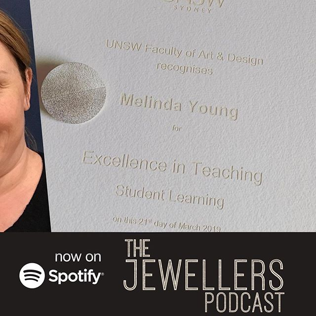 Repost of @unnaturaljeweller s recognition of #teachingexcellence  We have just recorded an episode on teacher student relationships and how to be a better #studentjeweller no matter your age or ability. Out tomorrow!!! #teachingart #learningatrade #betterlearning #learnbetter #learnsomethingnew #alwayslearning #studentjeweller #jewellerystudent #jewellerydesignstudent