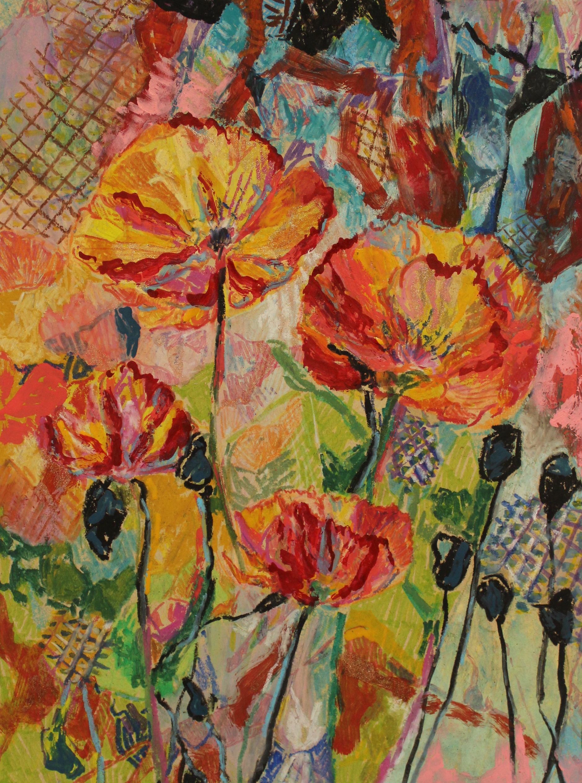 LRSweet, Orange Poppy_2018_mixed media_12x9in.jpg