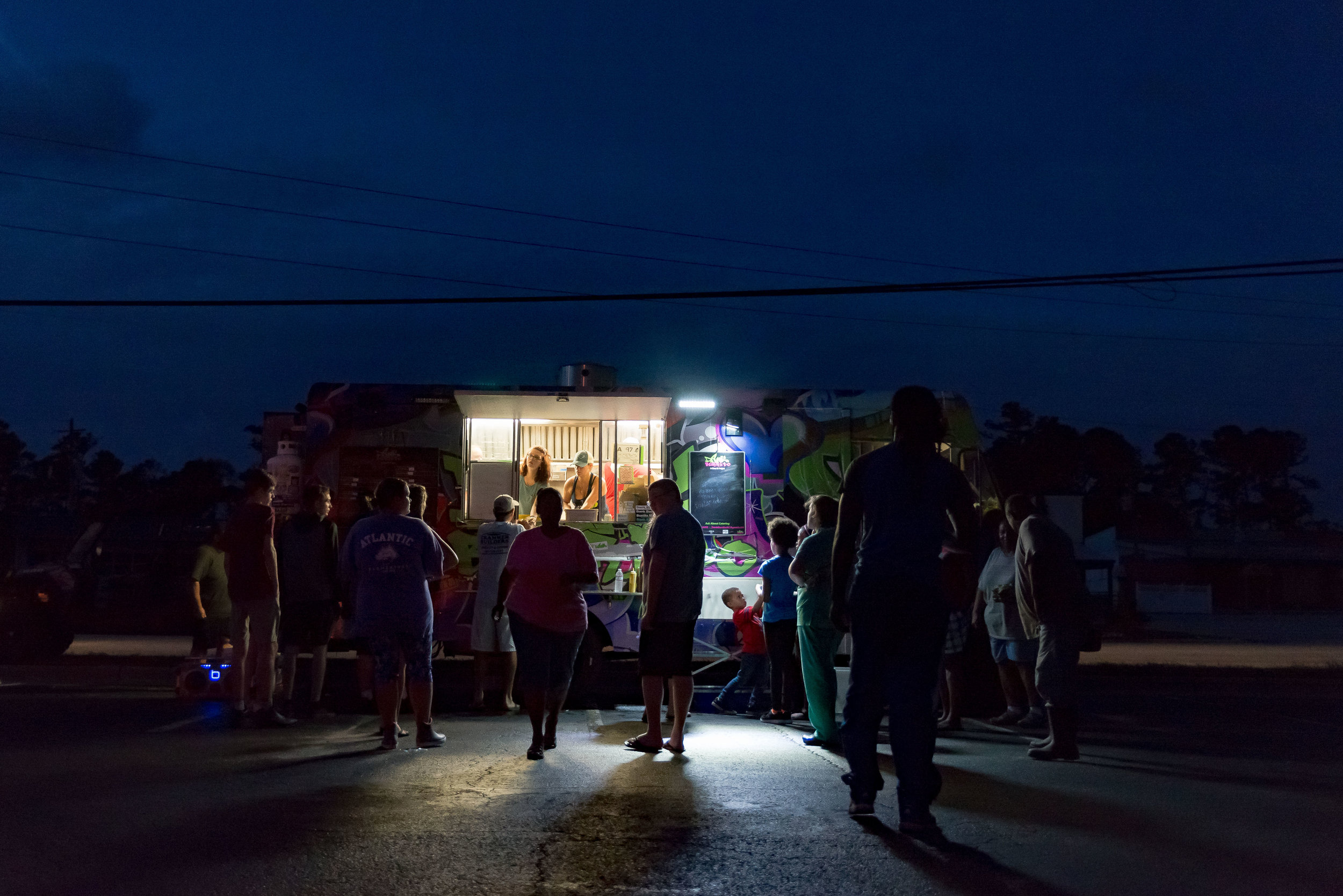 September 16, 2018, Atlantic Beach, NC- Food trucks provide much needed sustenance to hungry residents.