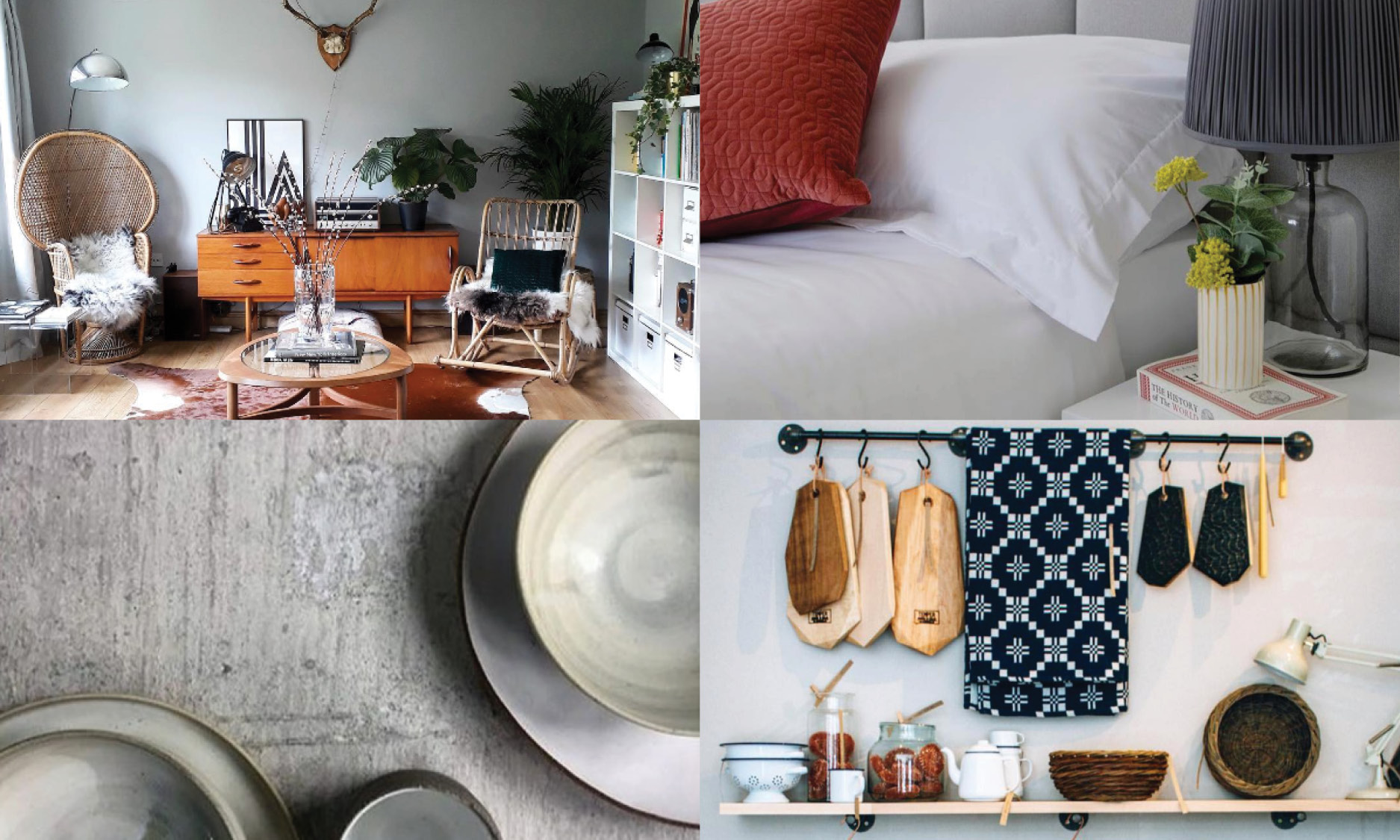Clockwise from top left: Living & Beauty, Optimise Design, Ciara O'Halloran, The Shopkeepers