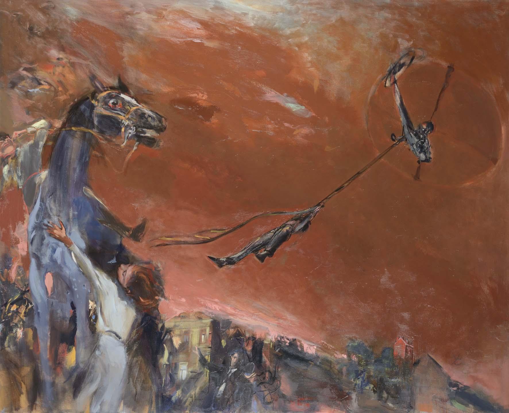 Brasier       Huile sur toile 90x160 cm -