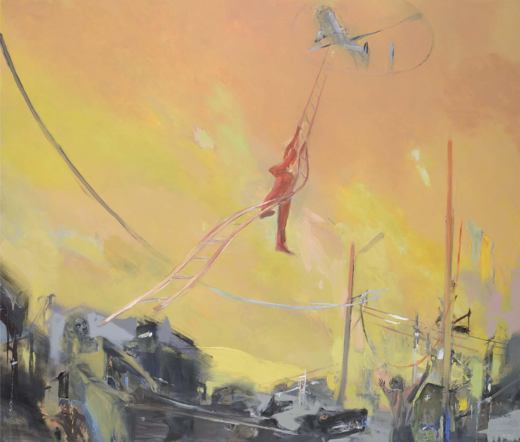 Evasion   Huile sur toile - 190x160 cm