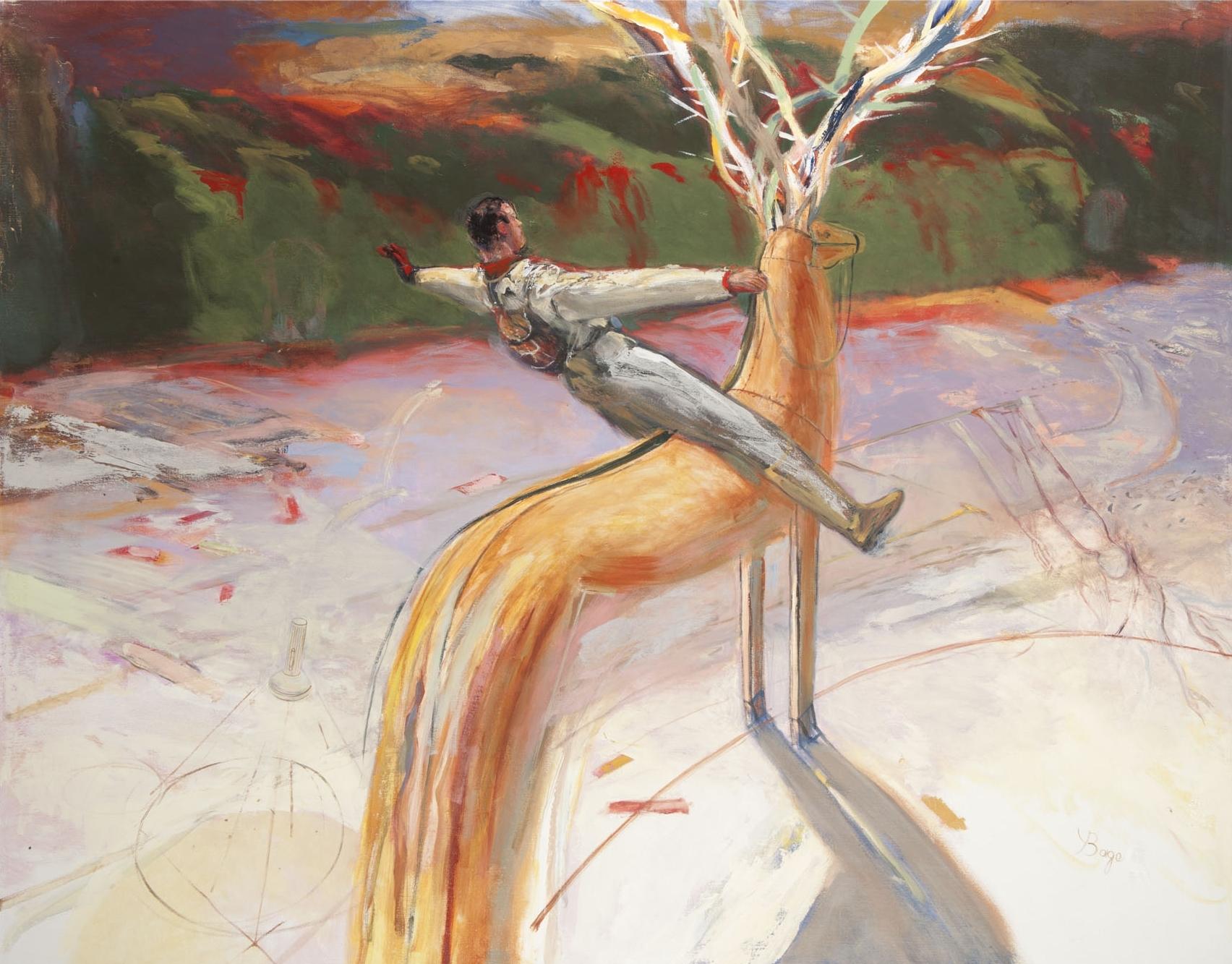 Le Cerf - Huile sur toile - 190x160 cm -