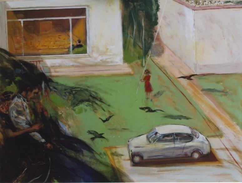 Les freux  Huile sur toile - 90 x 80 cm