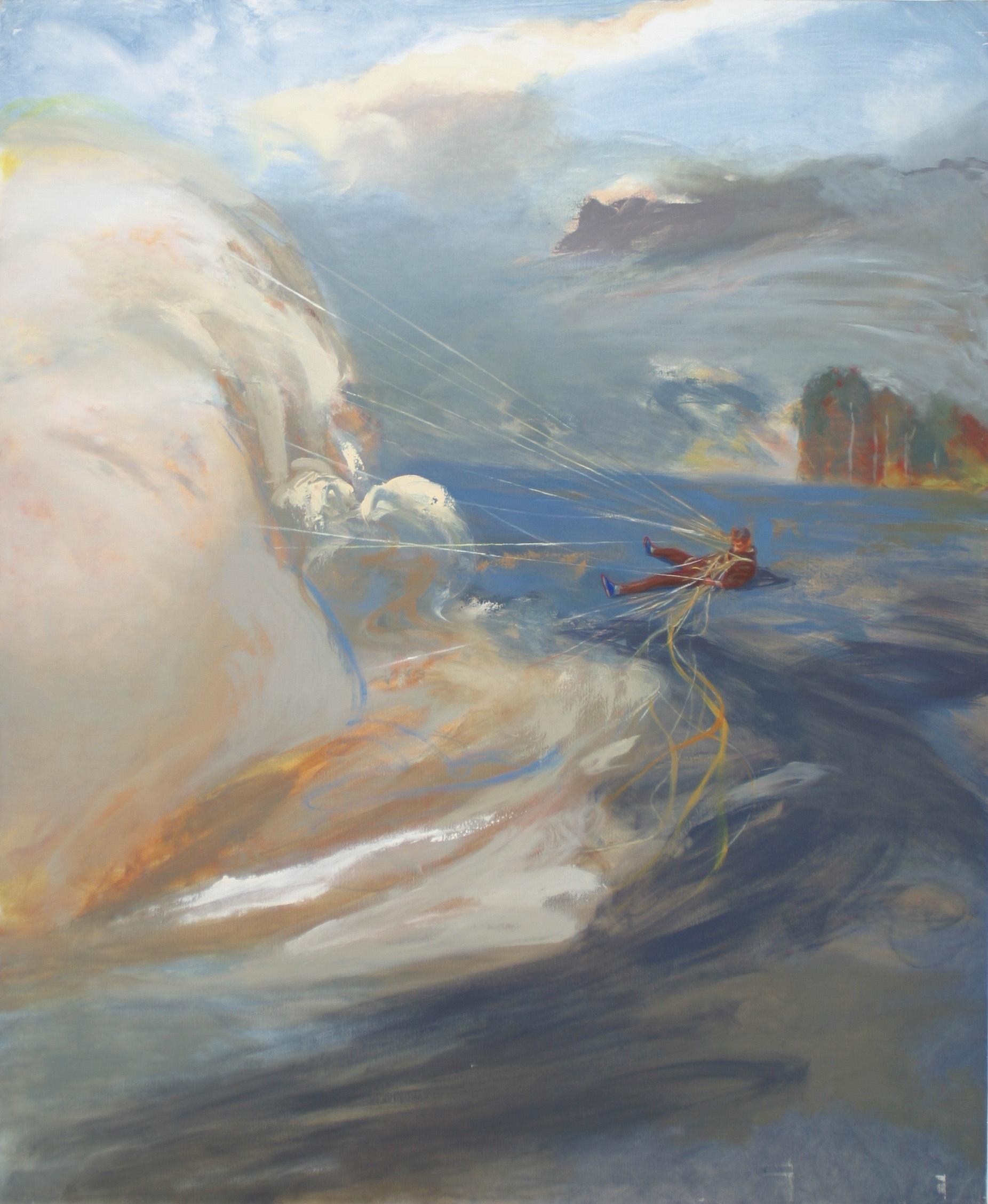 Le dompteur de nuages - huile sur toile - 190x160 cm -      Collection privée