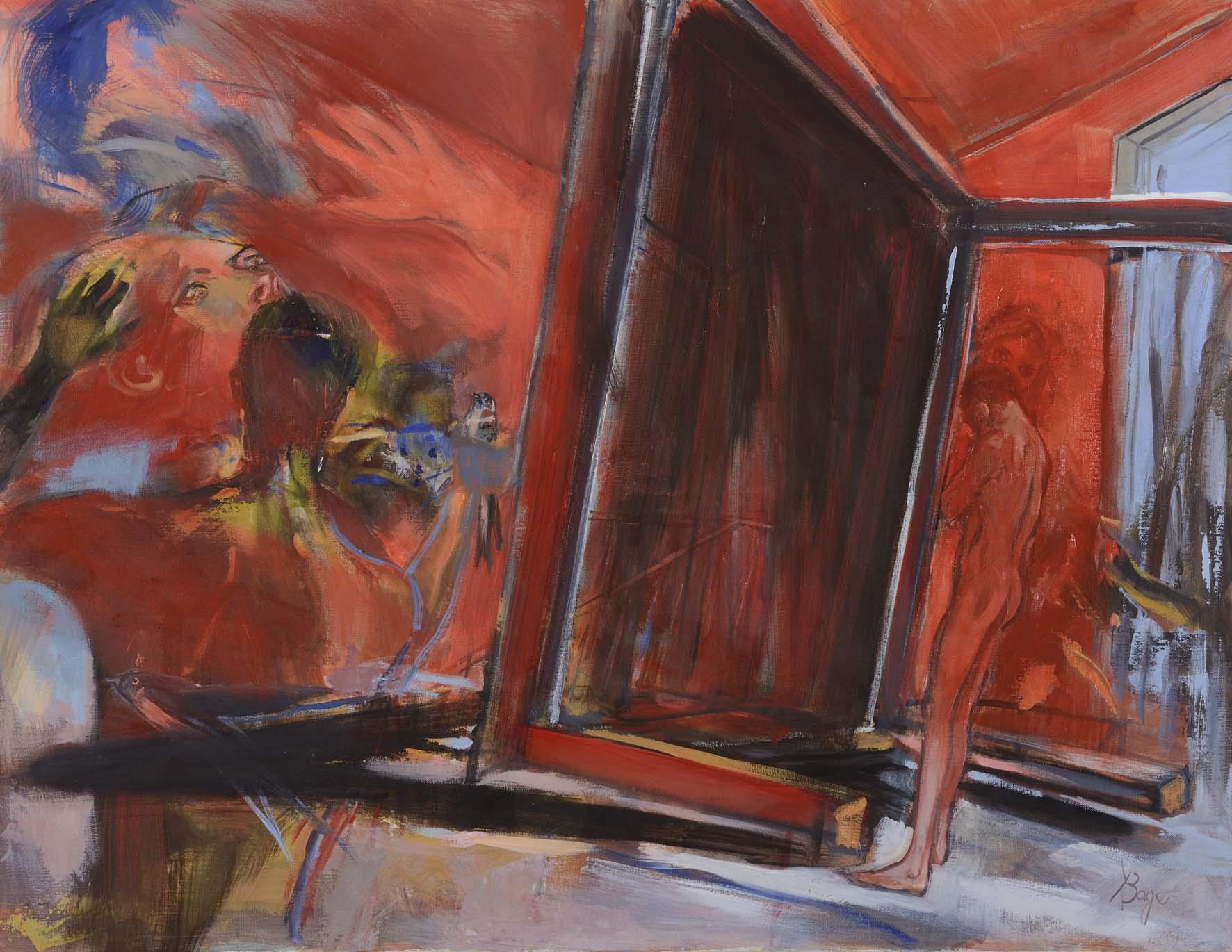 La table  huile sur toile  100 x 77 cm  prix sur demande