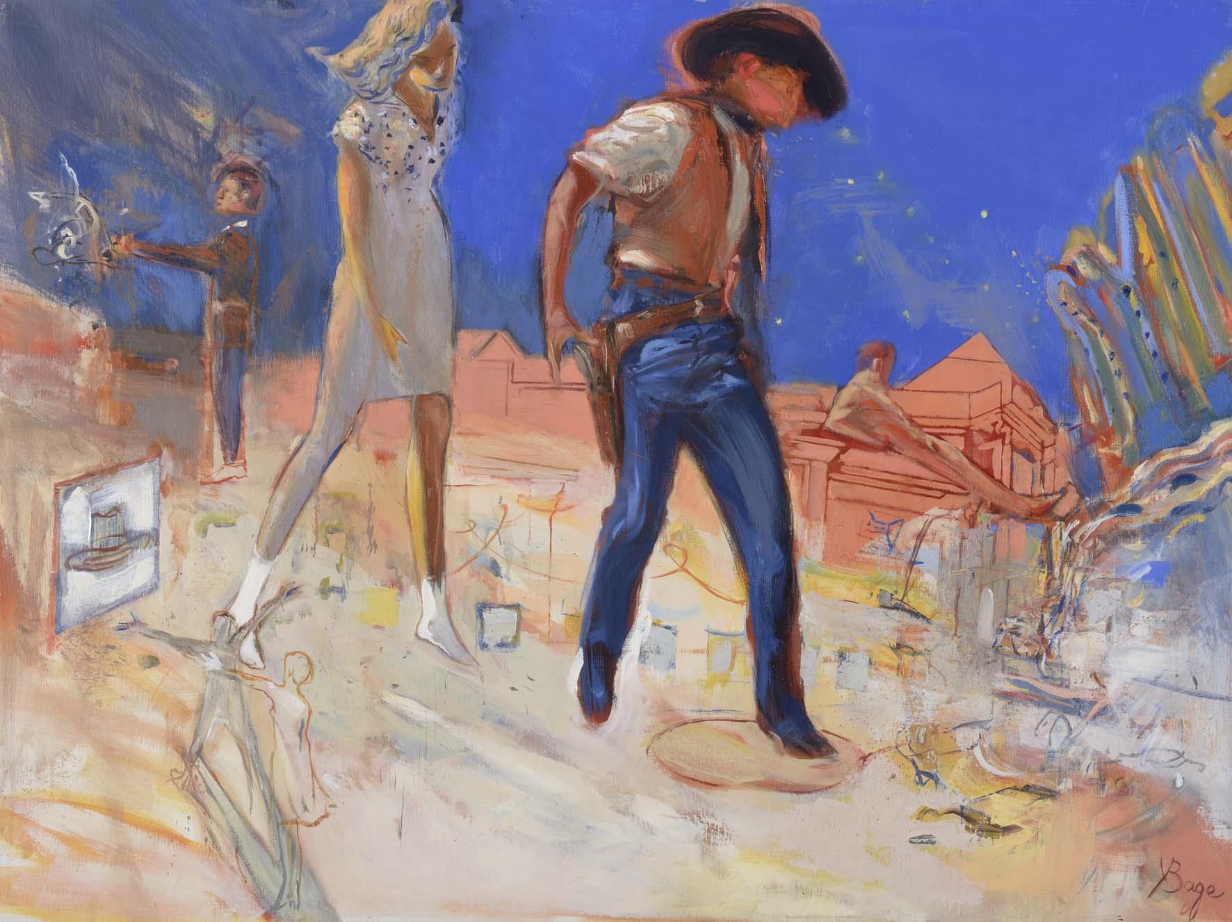 La fiancée du cow-boy      huile sur toile - 130x100 cm