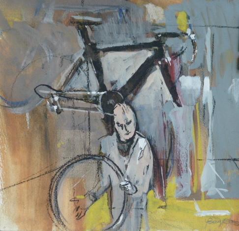 Le vélo - 22 x 20 cm