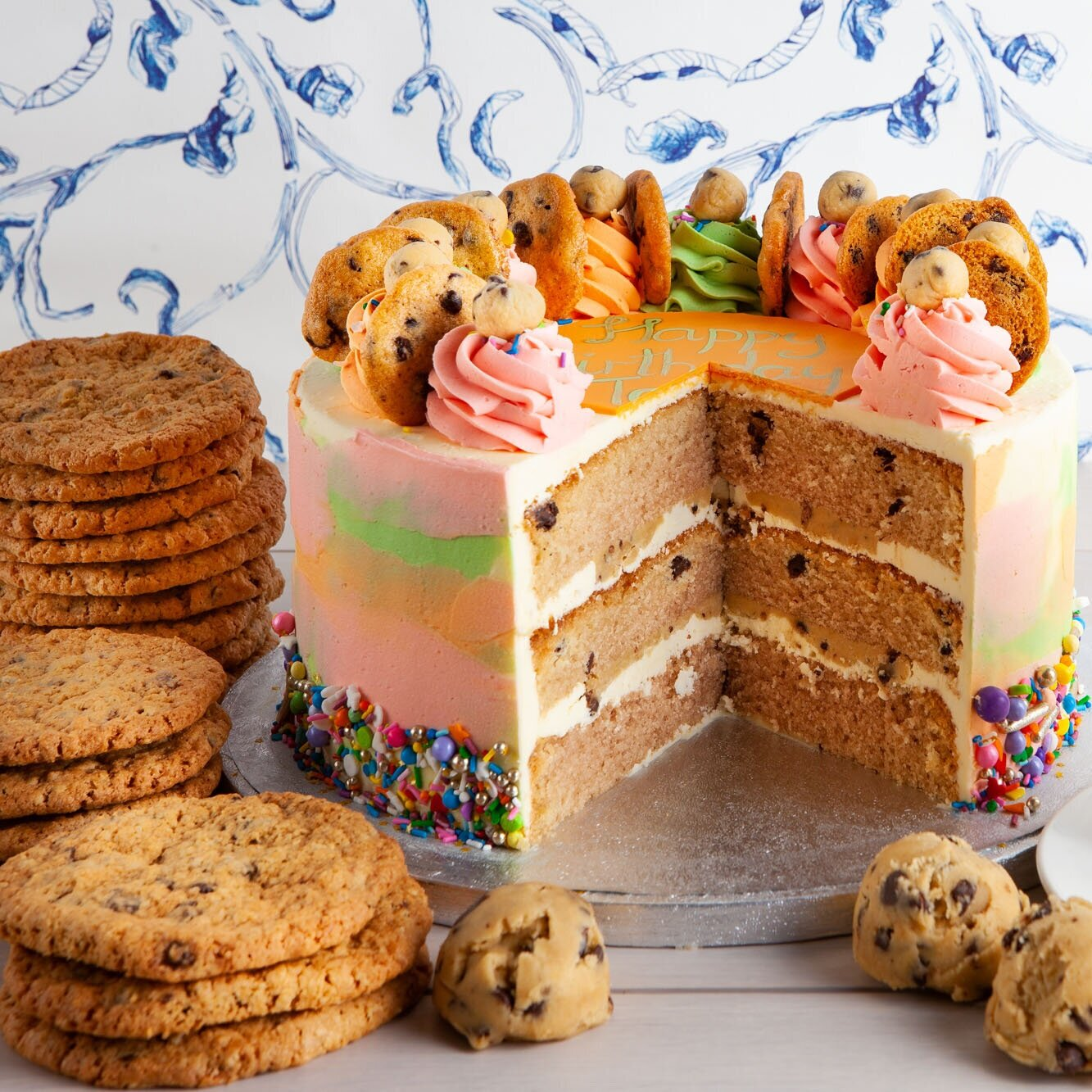Cookie Dough Cake - For cookie monsters only.