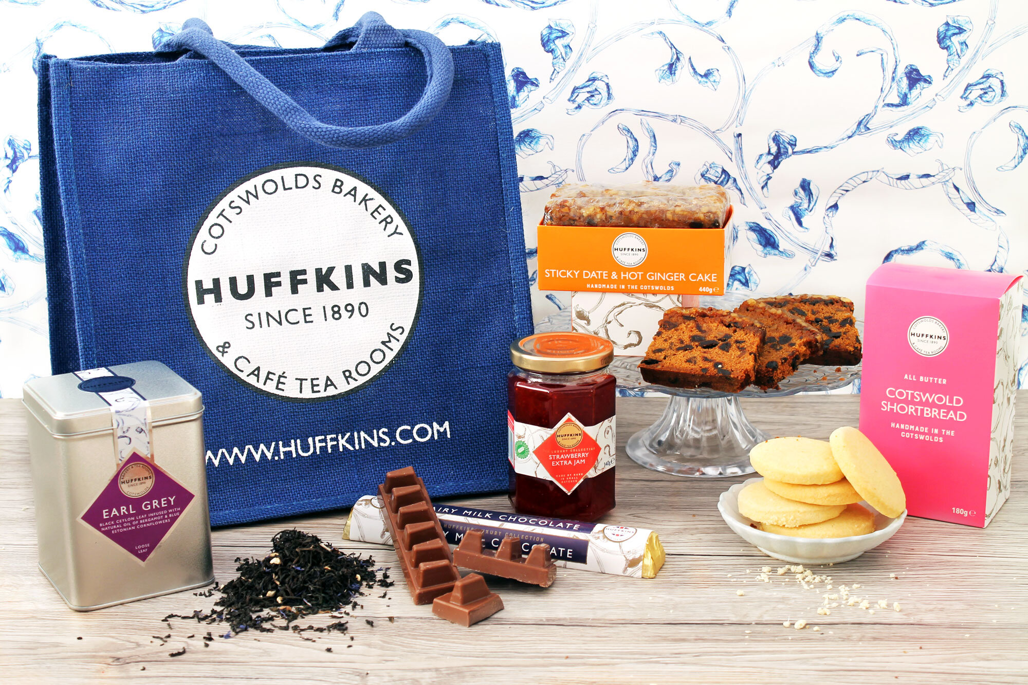Tea Time Favourites Gift Set Huffkins Bakery Free Uk Delivery