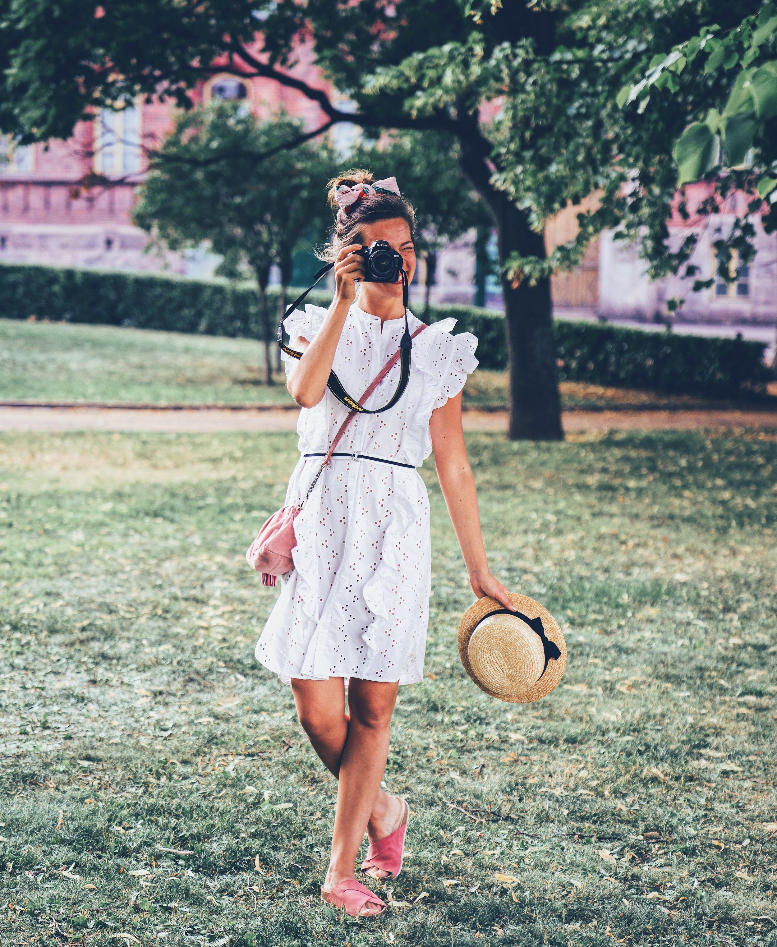 This pretty white lace dress, the silk scarf in my hair and bag were all gifted by  Beck Söndergaard . They're design DNA is rebellious love and they have so many fun and playful designs.