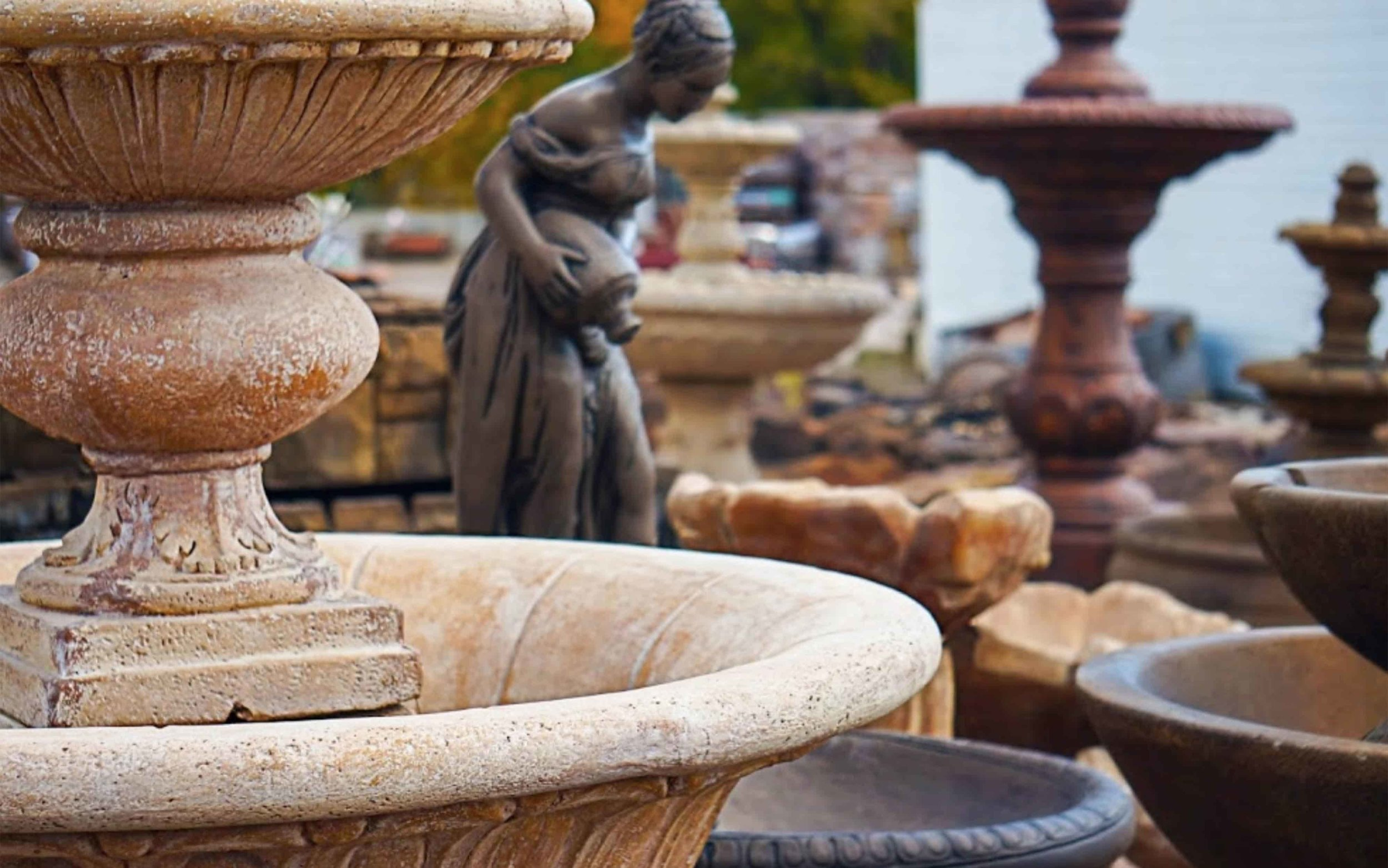 Statuary - C&C carries statuary of all sorts. From small accessories to large ornamental pieces.