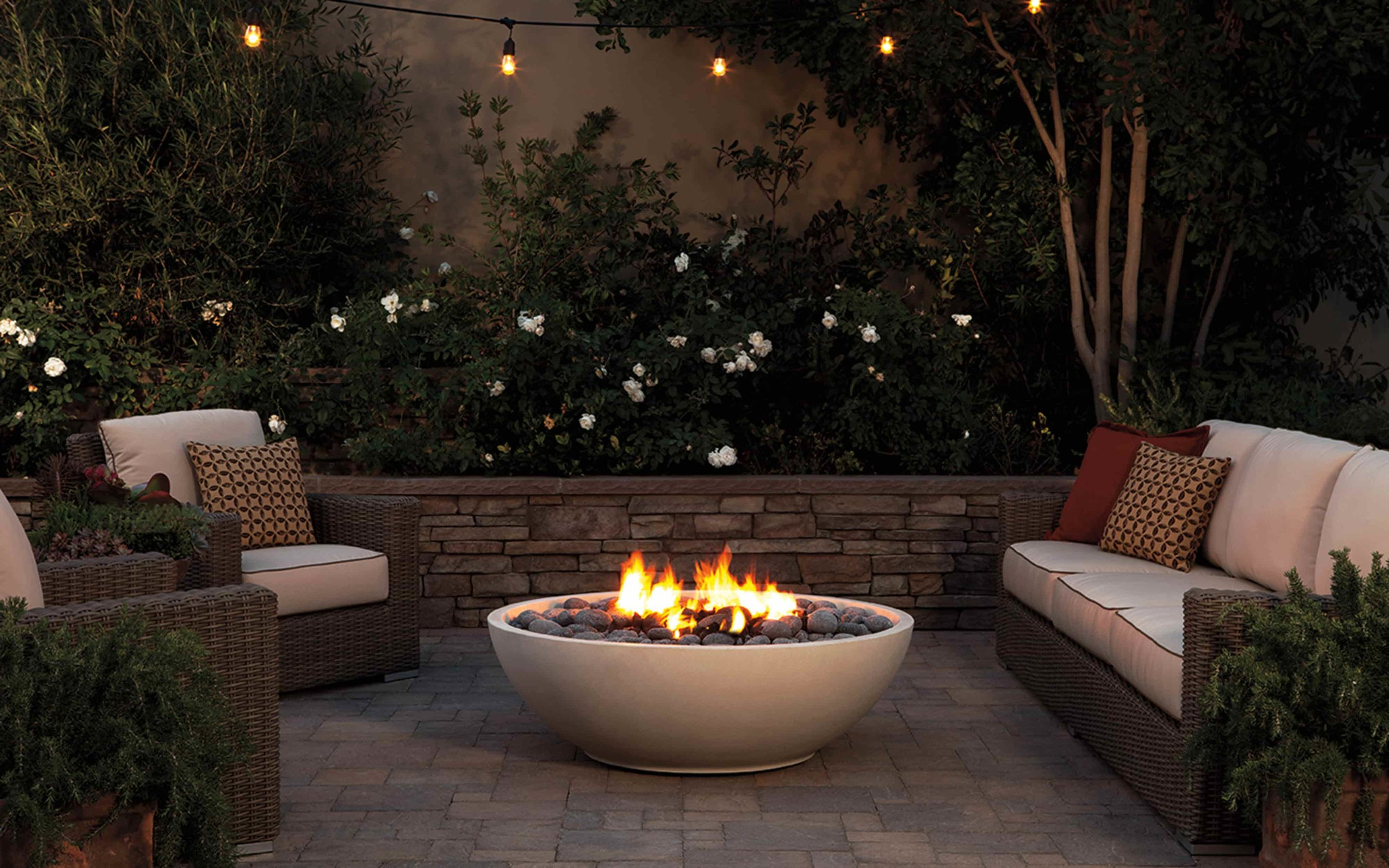 Eldorado Stone Fire Bowls - Dress up your outdoor living space with a fire bowl from Eldorado Stone. The options are endless!