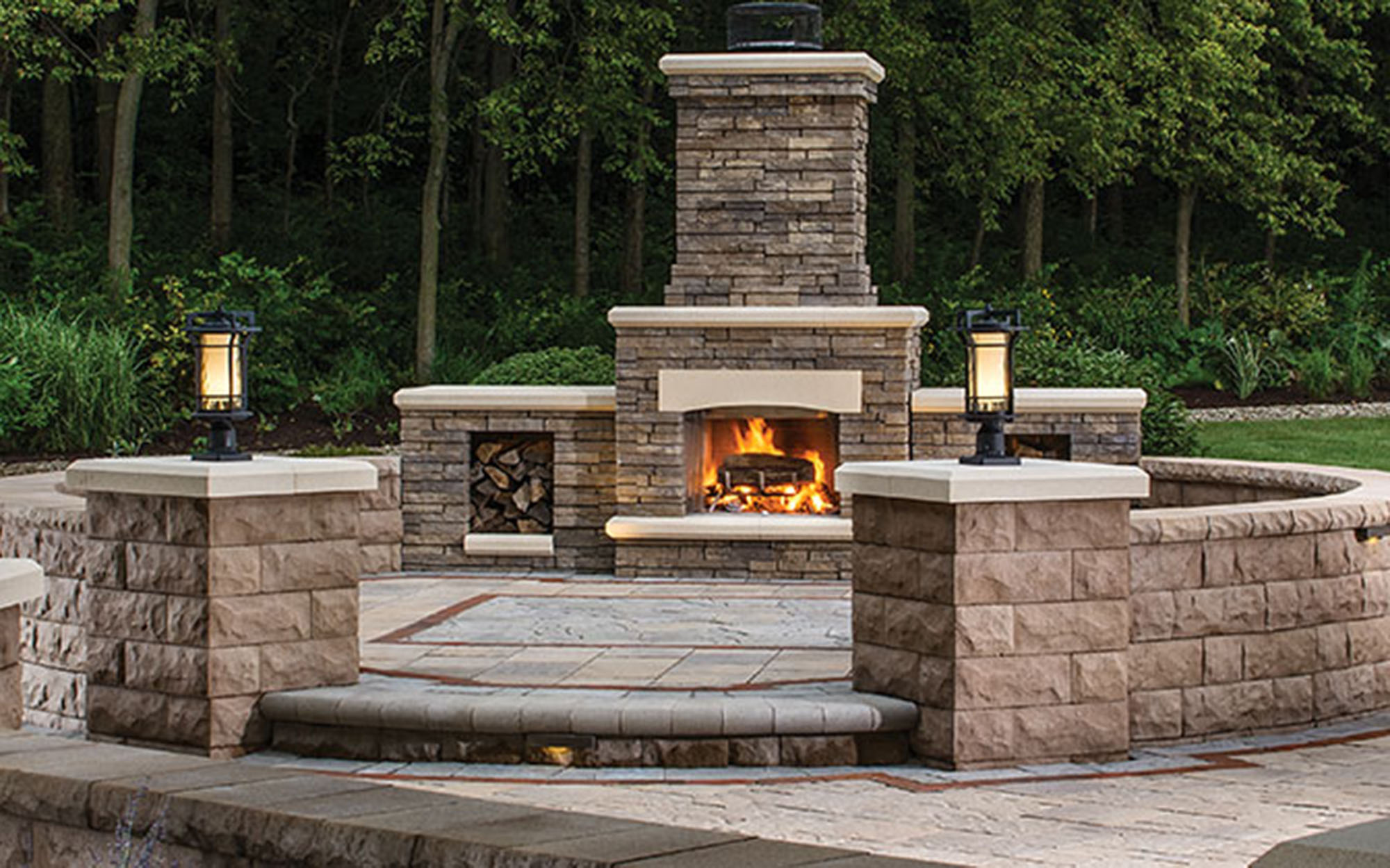 Belgard Outdoor Living - Belgard offers a wide selection of wonderful pieces, including their patented Belgard Elements fireplace kits and outdoor kitchen ovens.