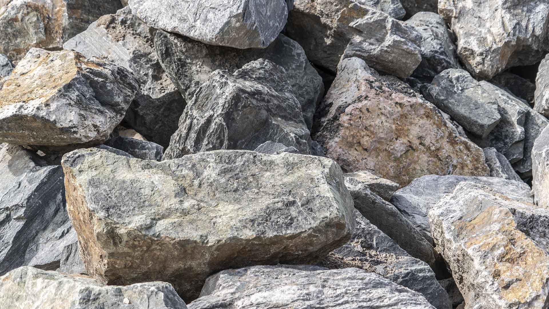 Black Granite Boulders - Large