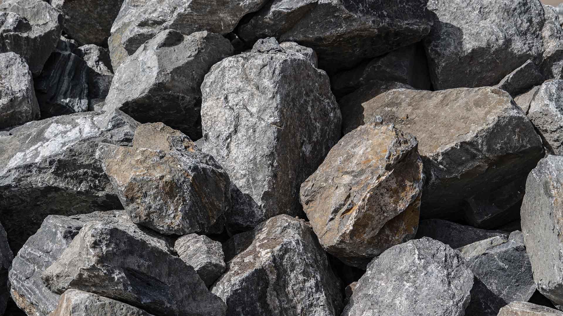 Black Granite Rip Rap Boulders