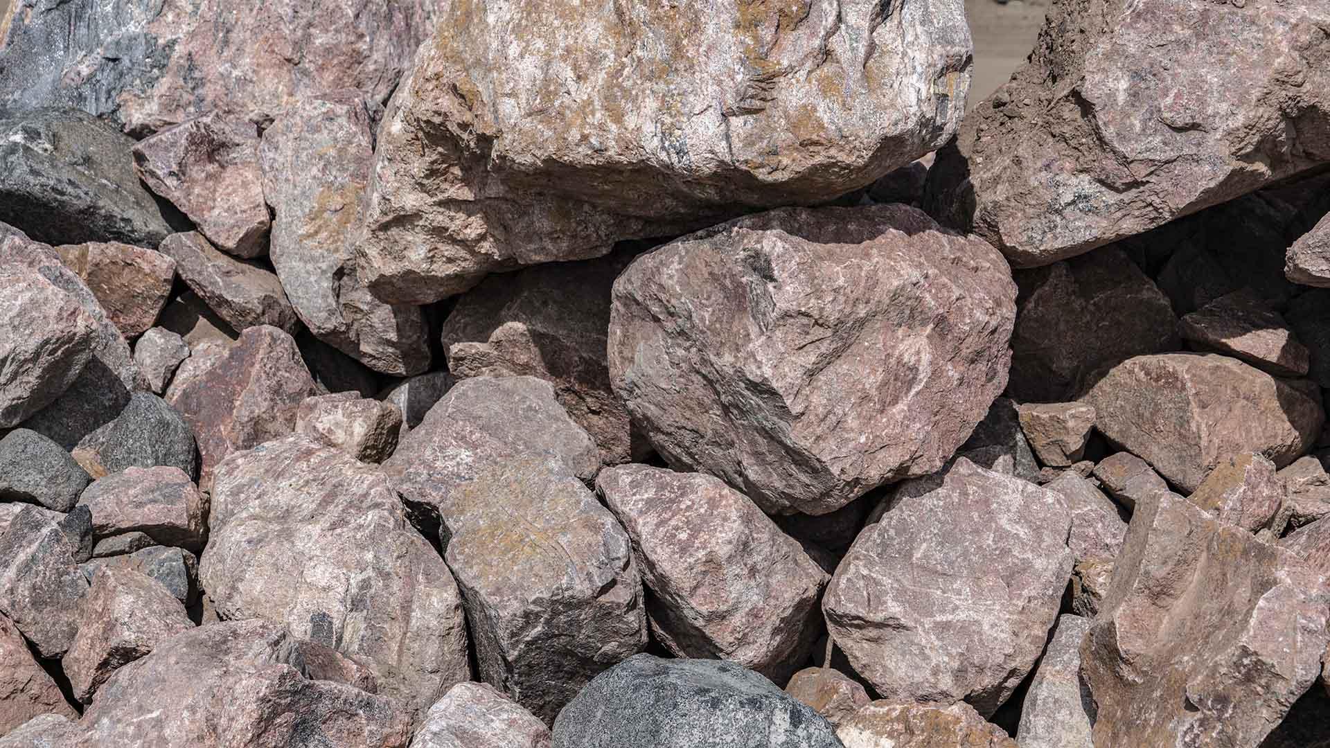 Royal Granite Rip Rap Boulders