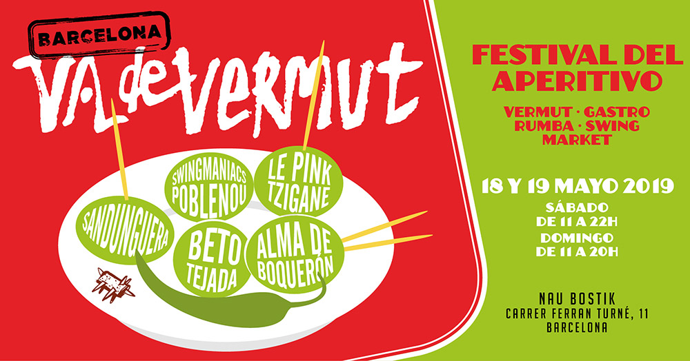 Va de Vermut - A new edition of the 'Barcelona Vadevermut' is back with much more content, international presence, live performances, workshops, vermouth tastings, market and more.18 & 19 of May