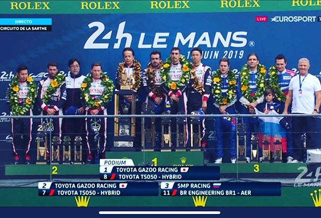 Many congratulations to race winners Toyota 8. There is always drama and excitement at Le Mans, that is why it is the greatest race in the world. Thank you! @toyotamotorsportgmbh @fernandoalo_oficial #lemans24 #savethepangolins #teamafricalemans