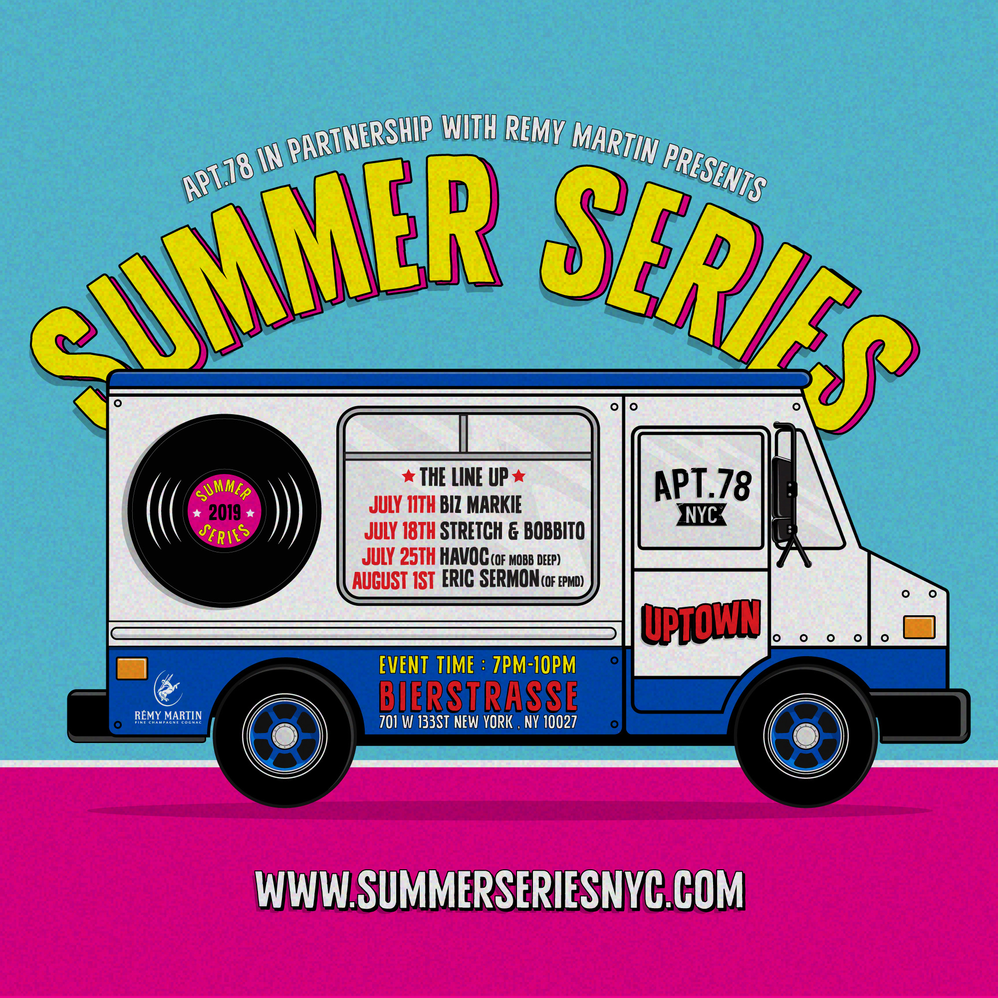 July 18th. - Opening Set 7pm-9pm : DJ JAMESYClosing Set 9pm-11pm : STRETCH & BOBBITO