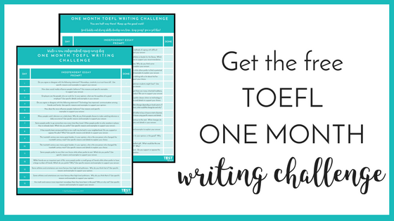 TOEFL One Month Writing Challenge Printable.png
