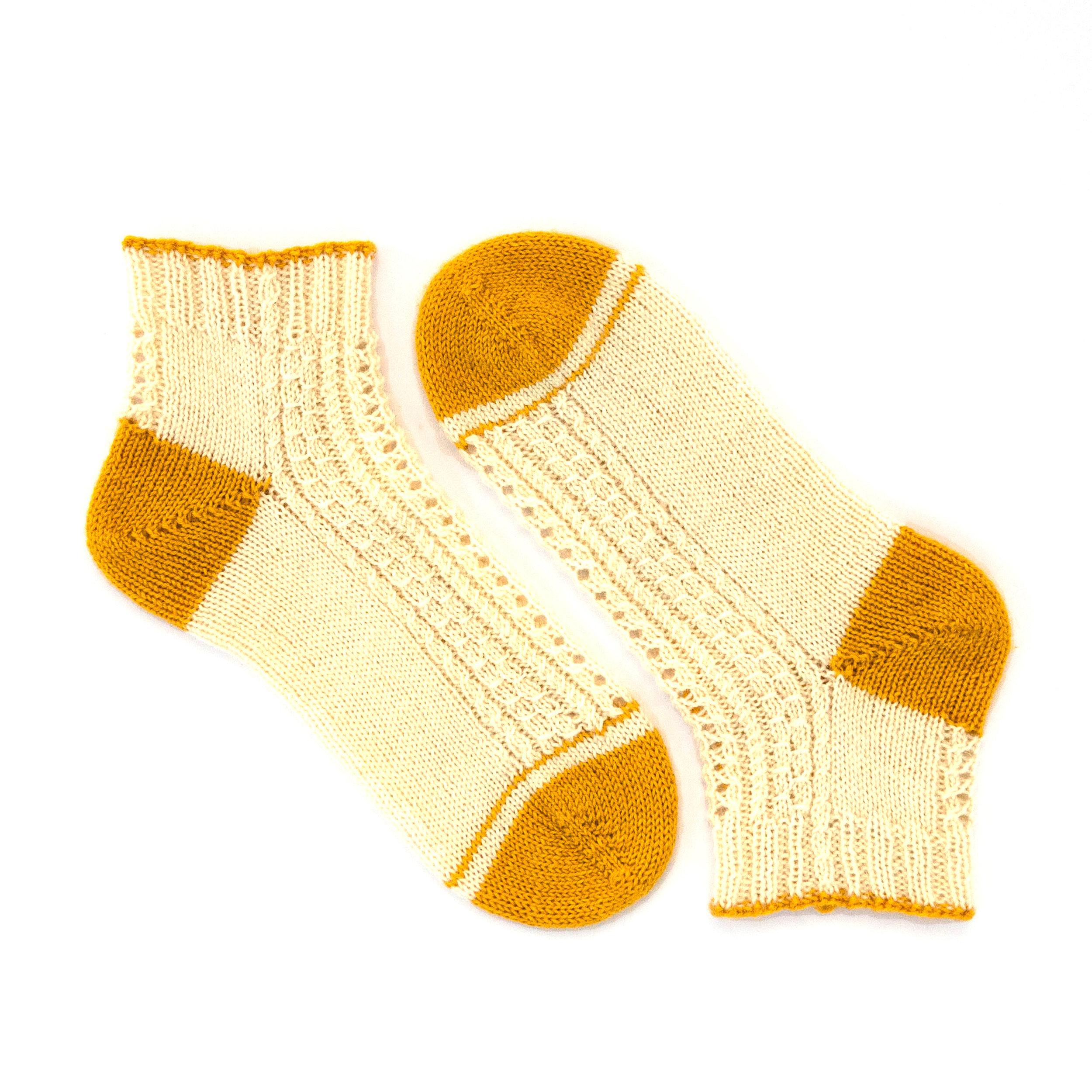 Chaussettes toe-up Joséphine de Lucettem