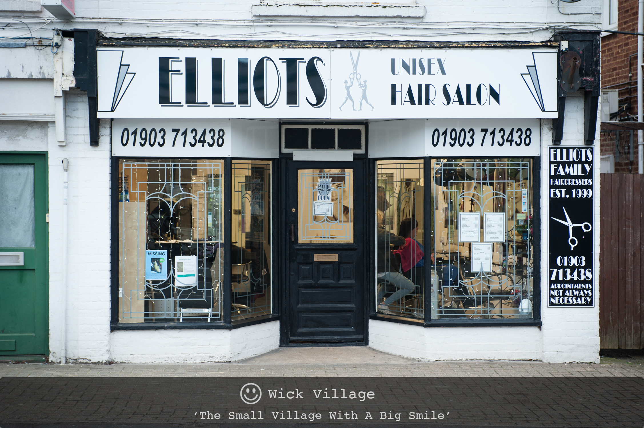 Elliots Hairdressers, Wick Village, Littlehampton.