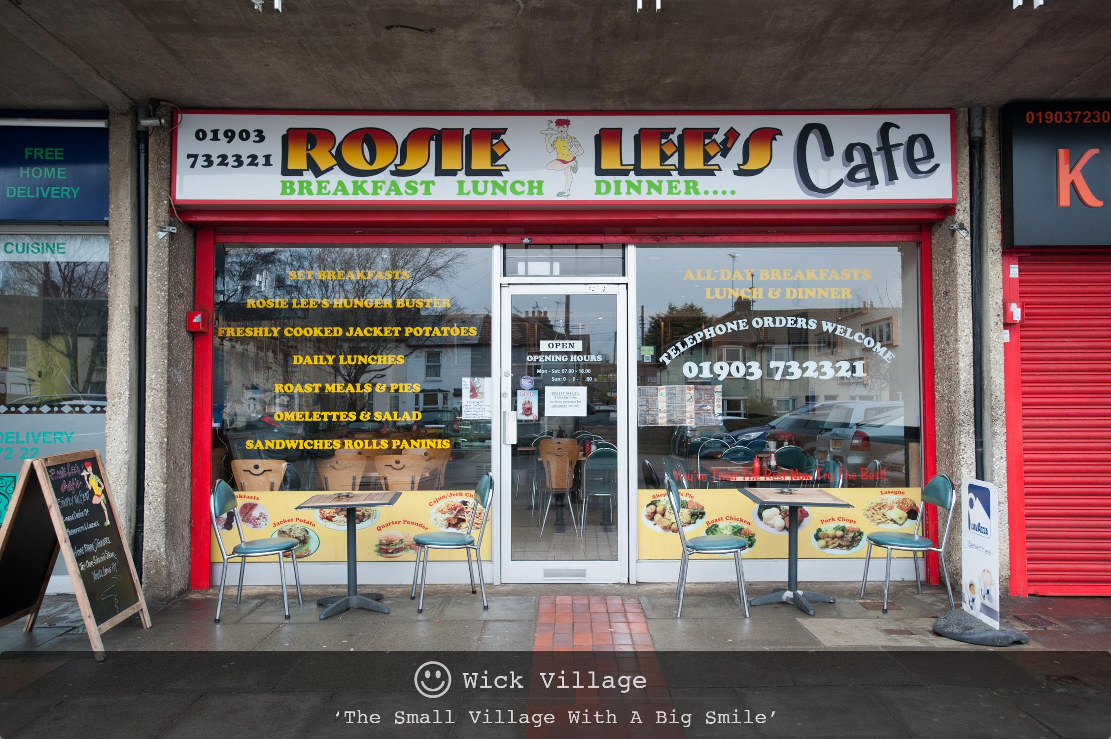 Rosie Lee's Cafe, Wick Village, Littlehampton.