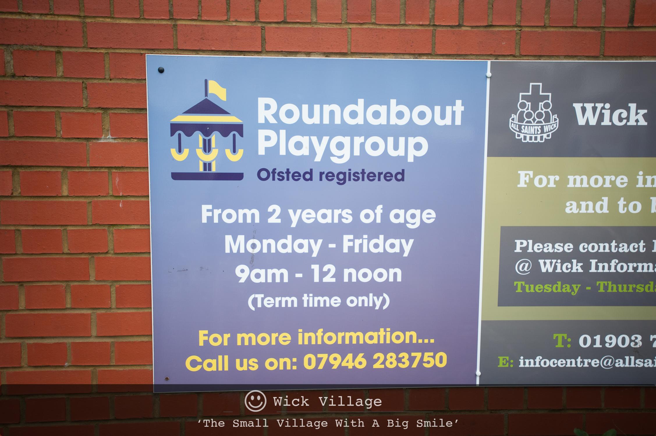 Roundabout Playgroup, Wick Village, Littlehampton.