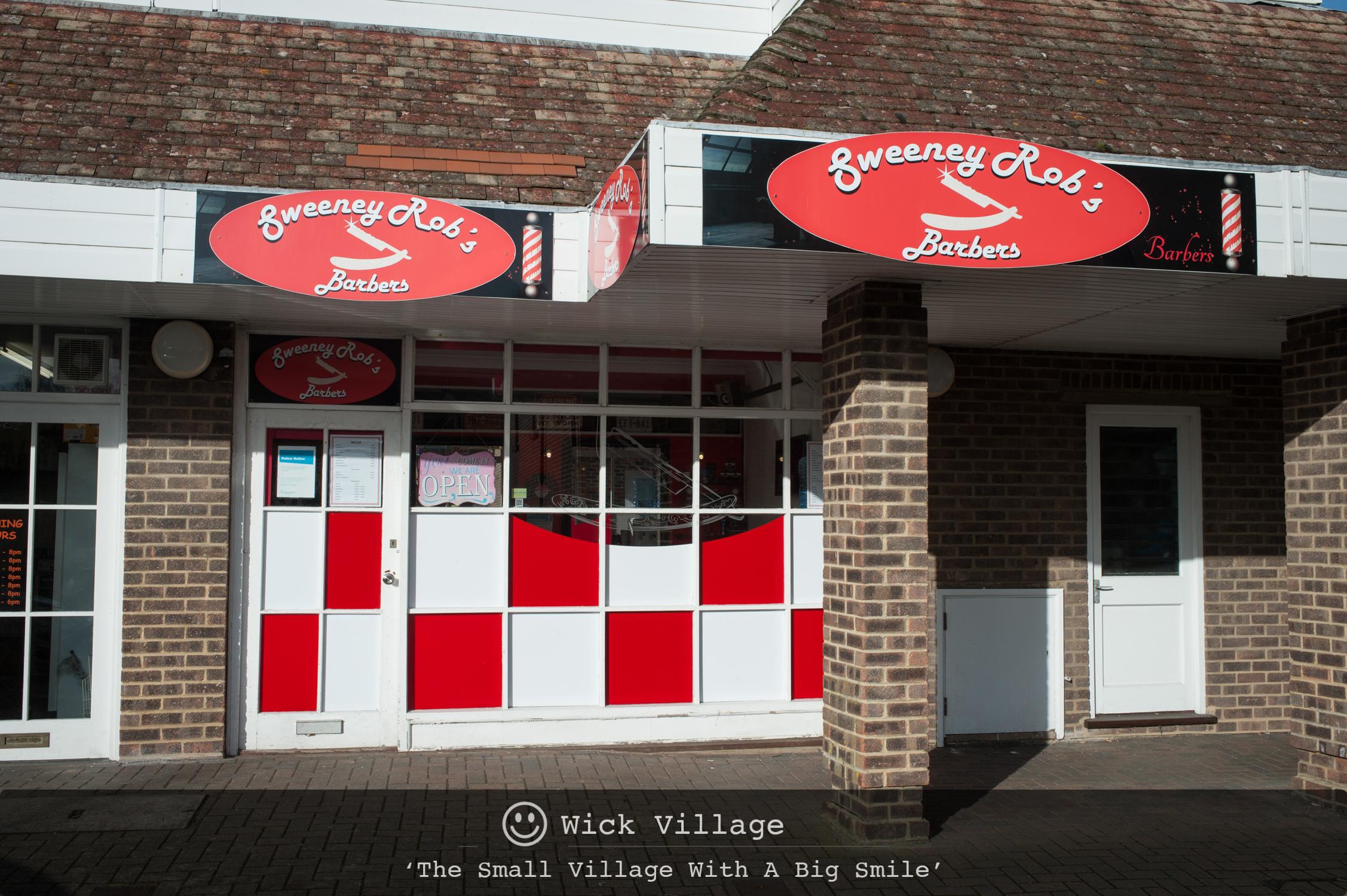 Sweeney Rob's Barbers, Wick Village, Littlehampton.
