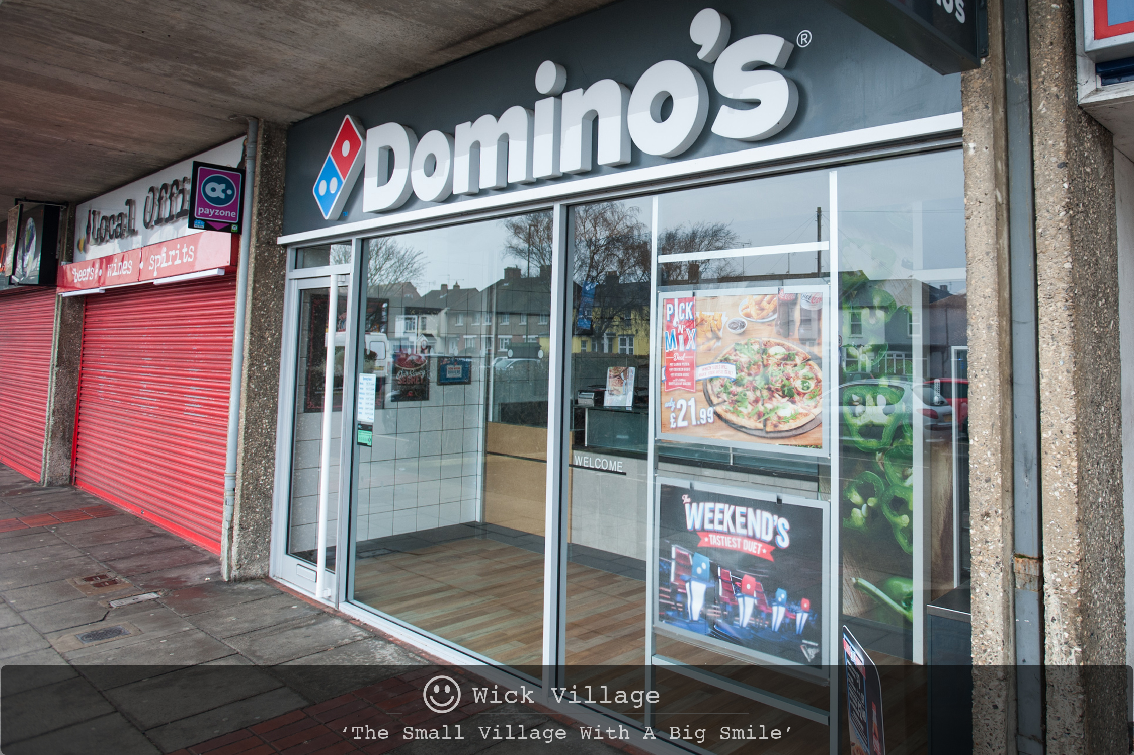 Domino's Pizza in Wick Village, Littlehampton.