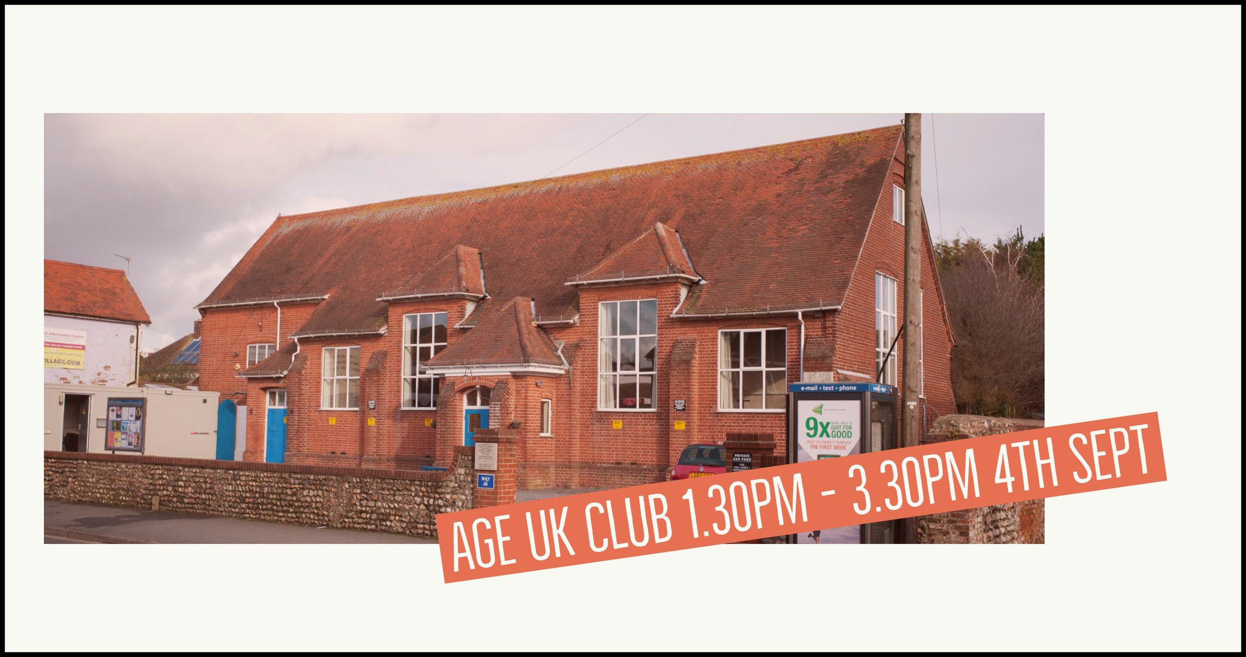 Age UK Club Wick Village Hall Littlehampton