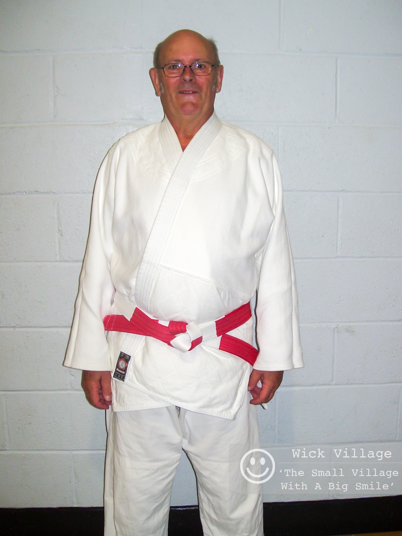 Don Ellis instructor of the Judokan Judo Club in Wick Village is pictured wearing his red & white belt (6th dan) with pride. Don received the award at a British Judo Club course held in Oxford.