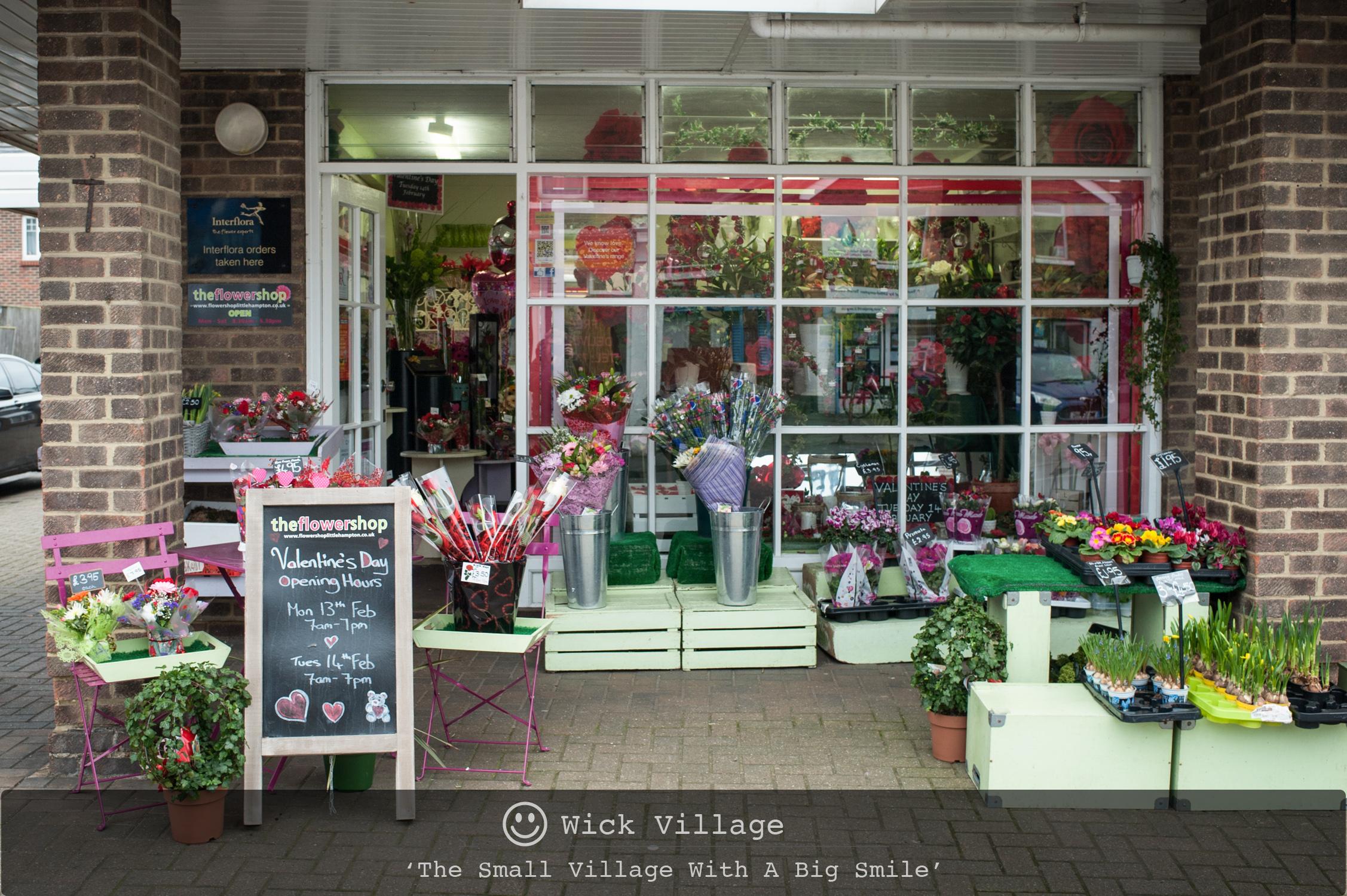The Flower Shop in Wick Village, Littlehampton.