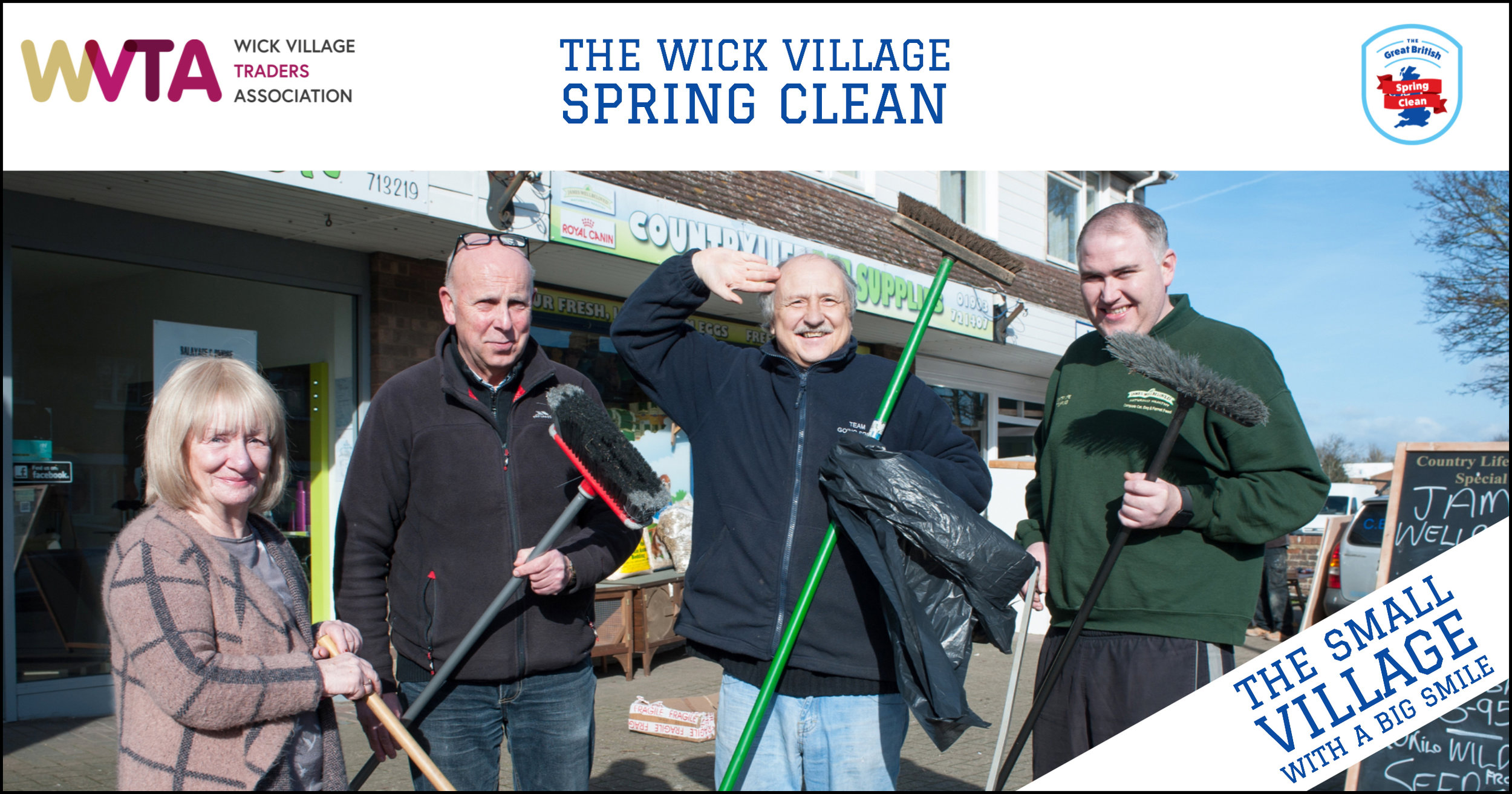Volunteers and business owners will be working together to give Wick Village in Littlehampton a spring clean. Photo © Scott Ramsey / Wick Village Traders Association
