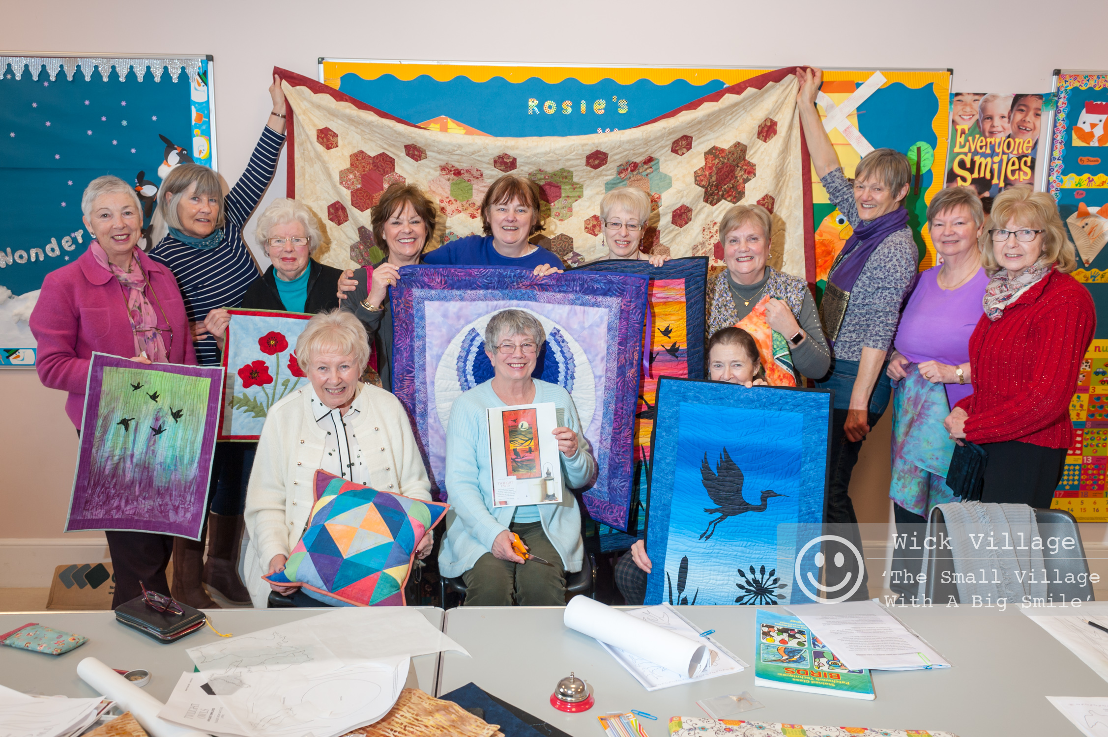 The Wicked Quilters from Wick Village in Littlehampton.