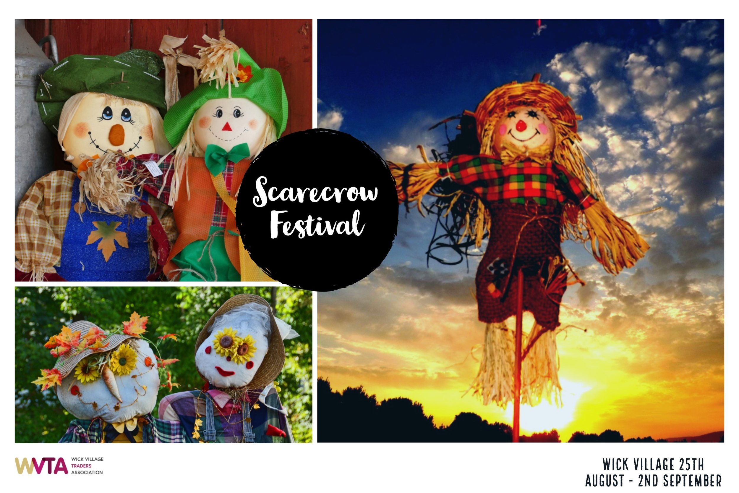The Wick Village Scarecrow Festival from the 25th August - 2nd September 2018 in Littlehampton, West Sussex.