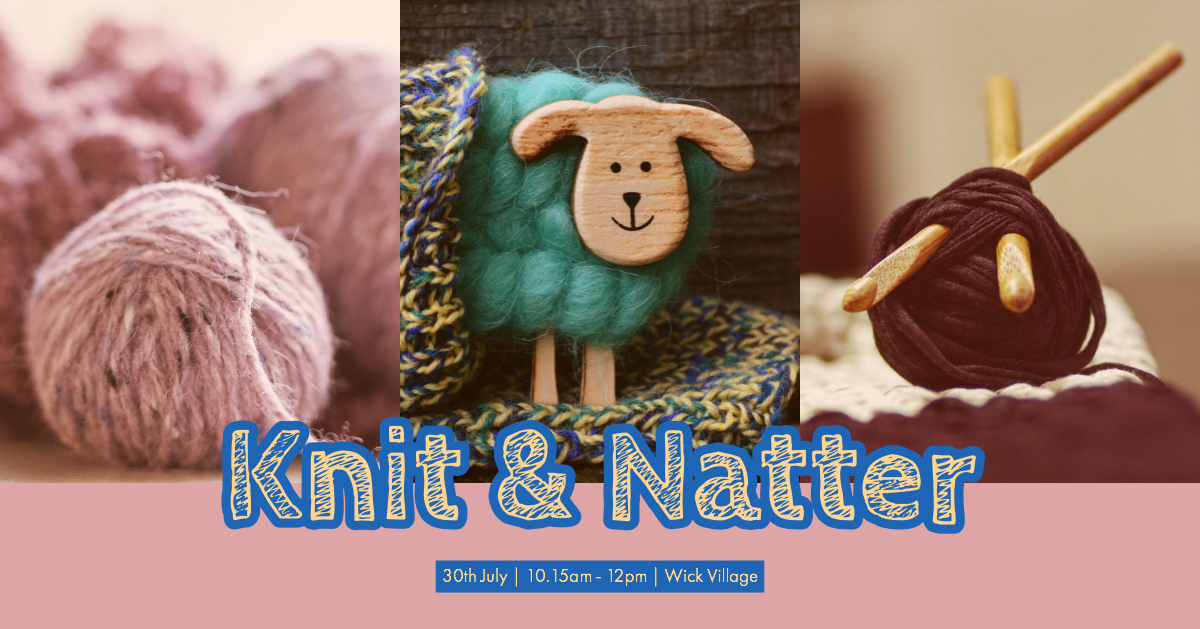 The Wick Week Free Knit & Natter event in Littlehampton, West Sussex.