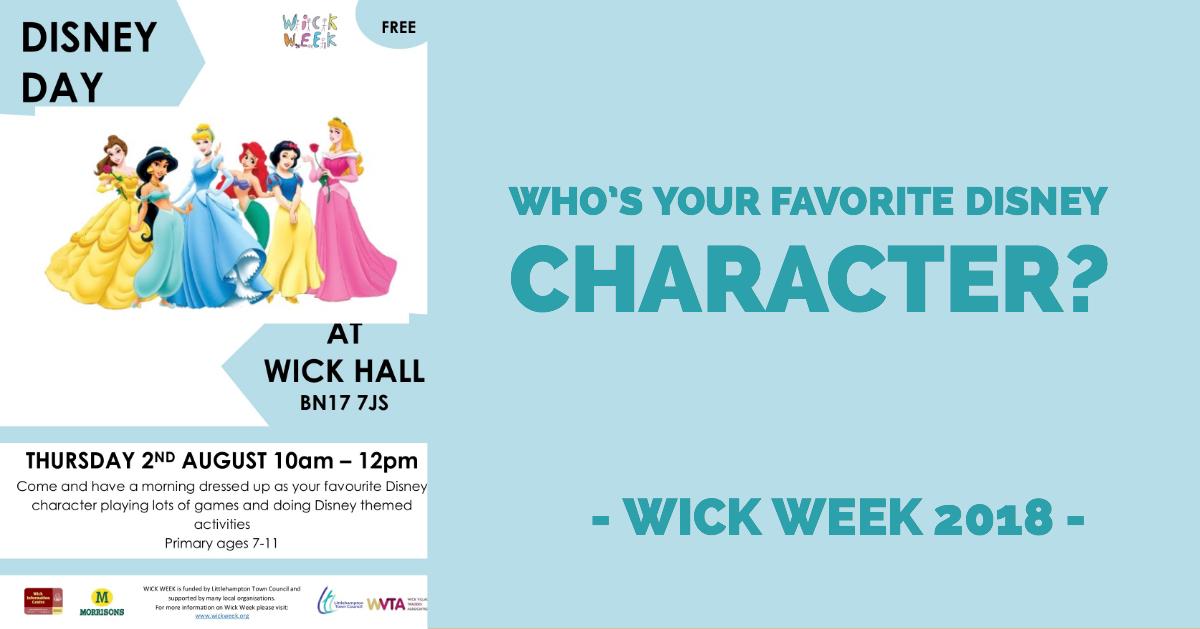 Children's Disney Day - Wick Week 2018