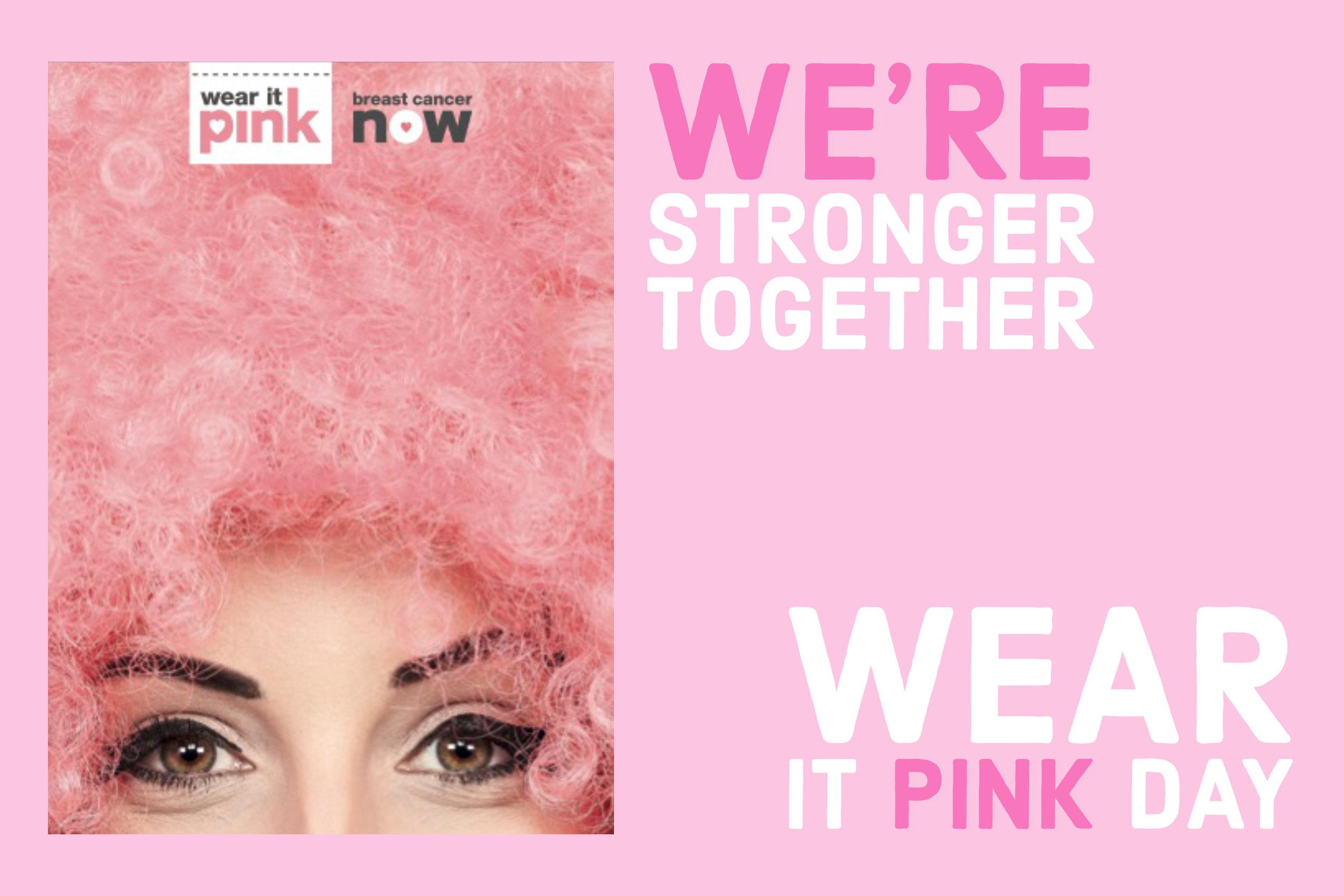 Wear It Pink Day Event in Wick Village Littlehampton.